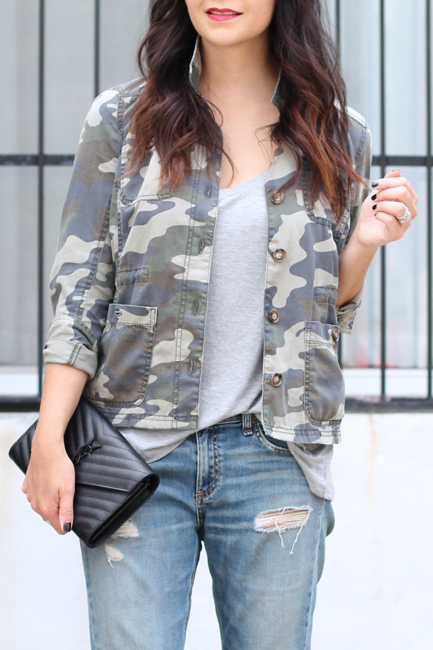 Camo Shirt Oufit, Rag and Bone Distressed Jeans