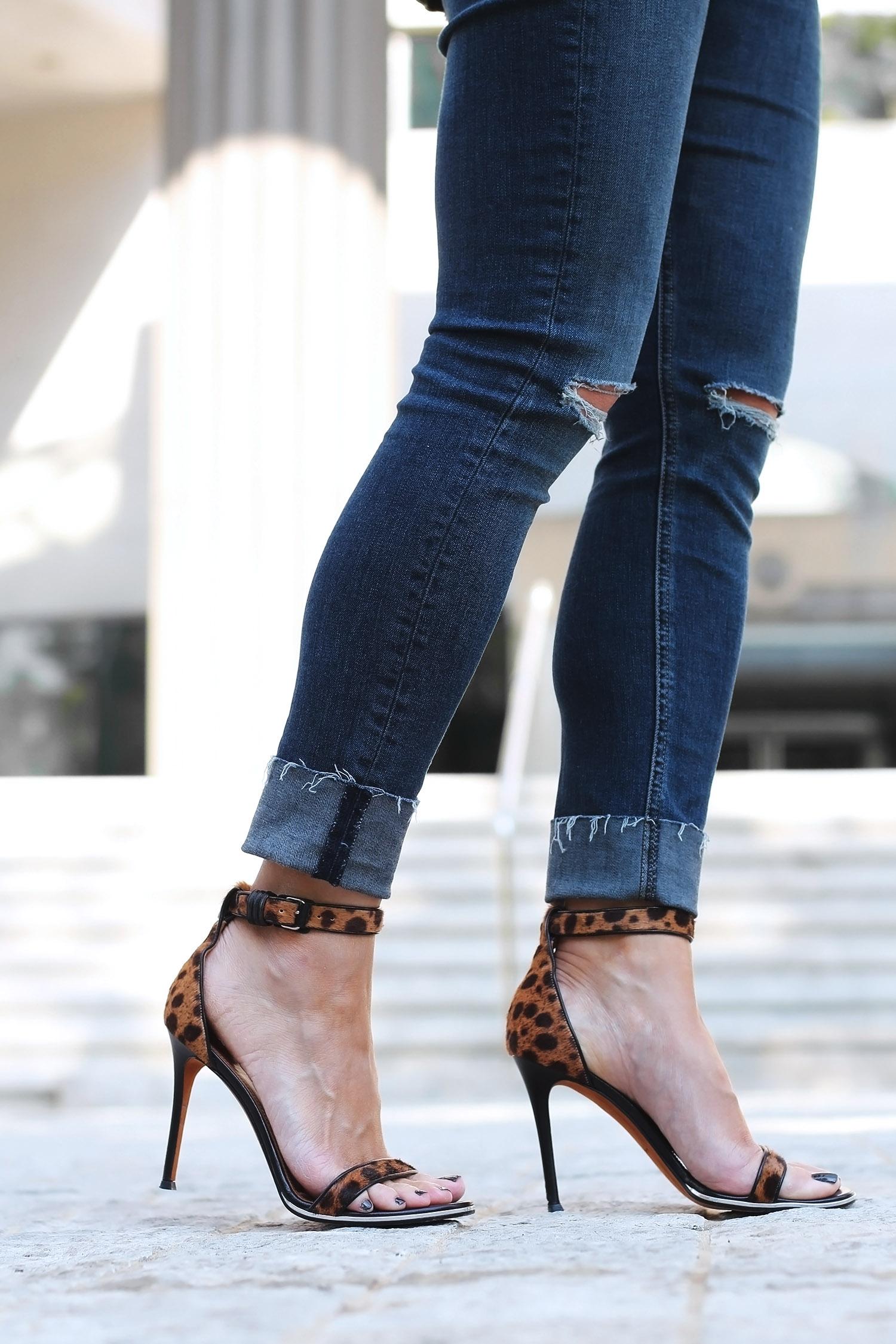 Givenchy Nadia Sandals, Leopard Print Sandals