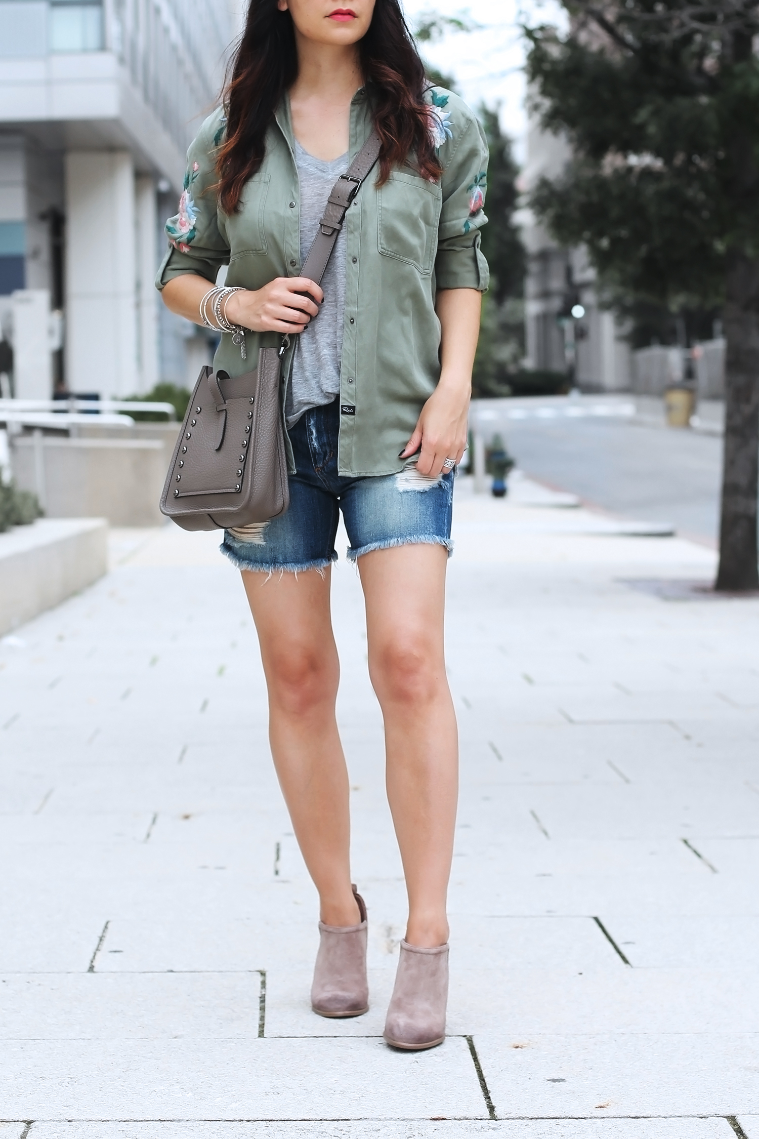 How to wear ankle boots with shorts