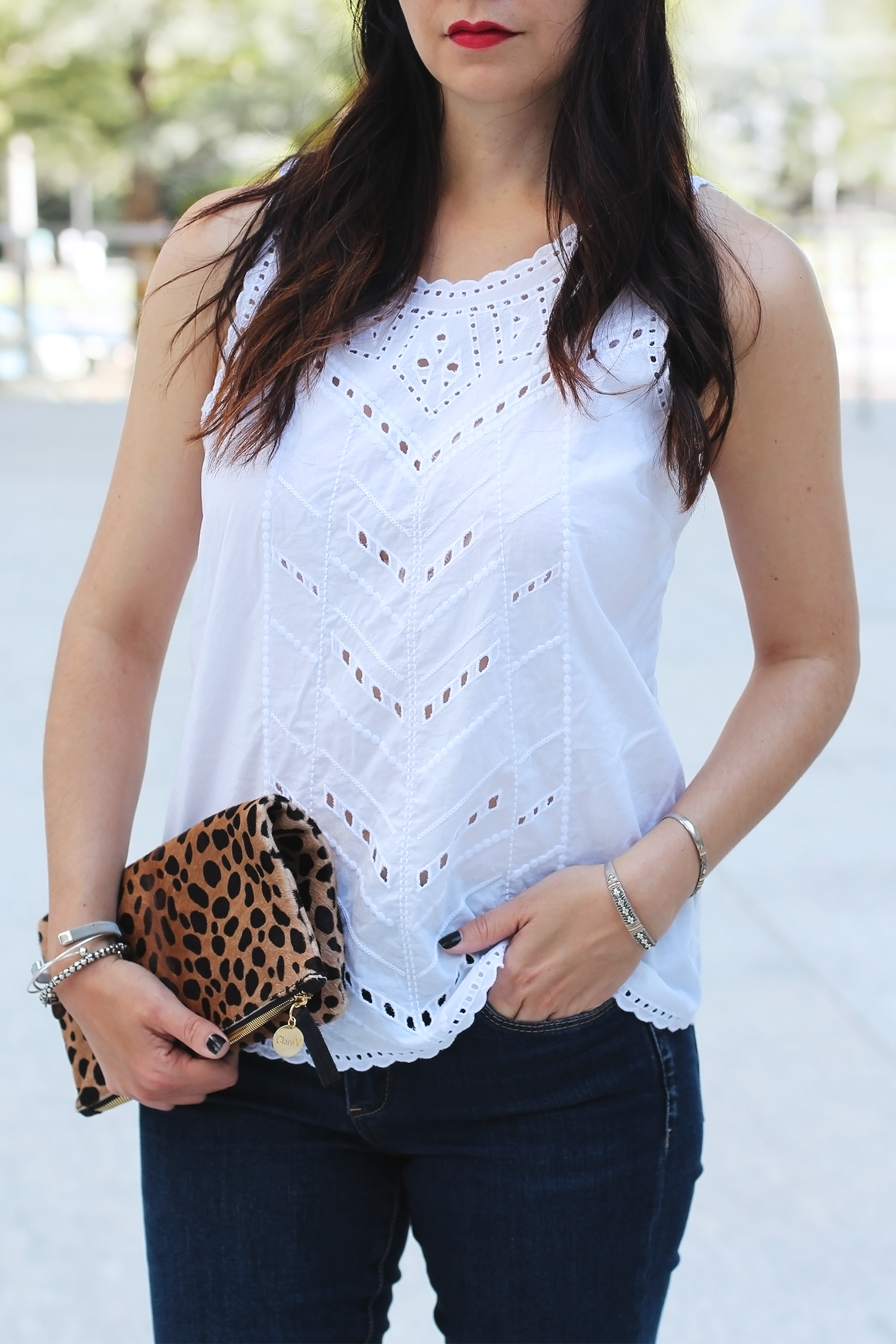 White Eyelet Top, Summer Date Night