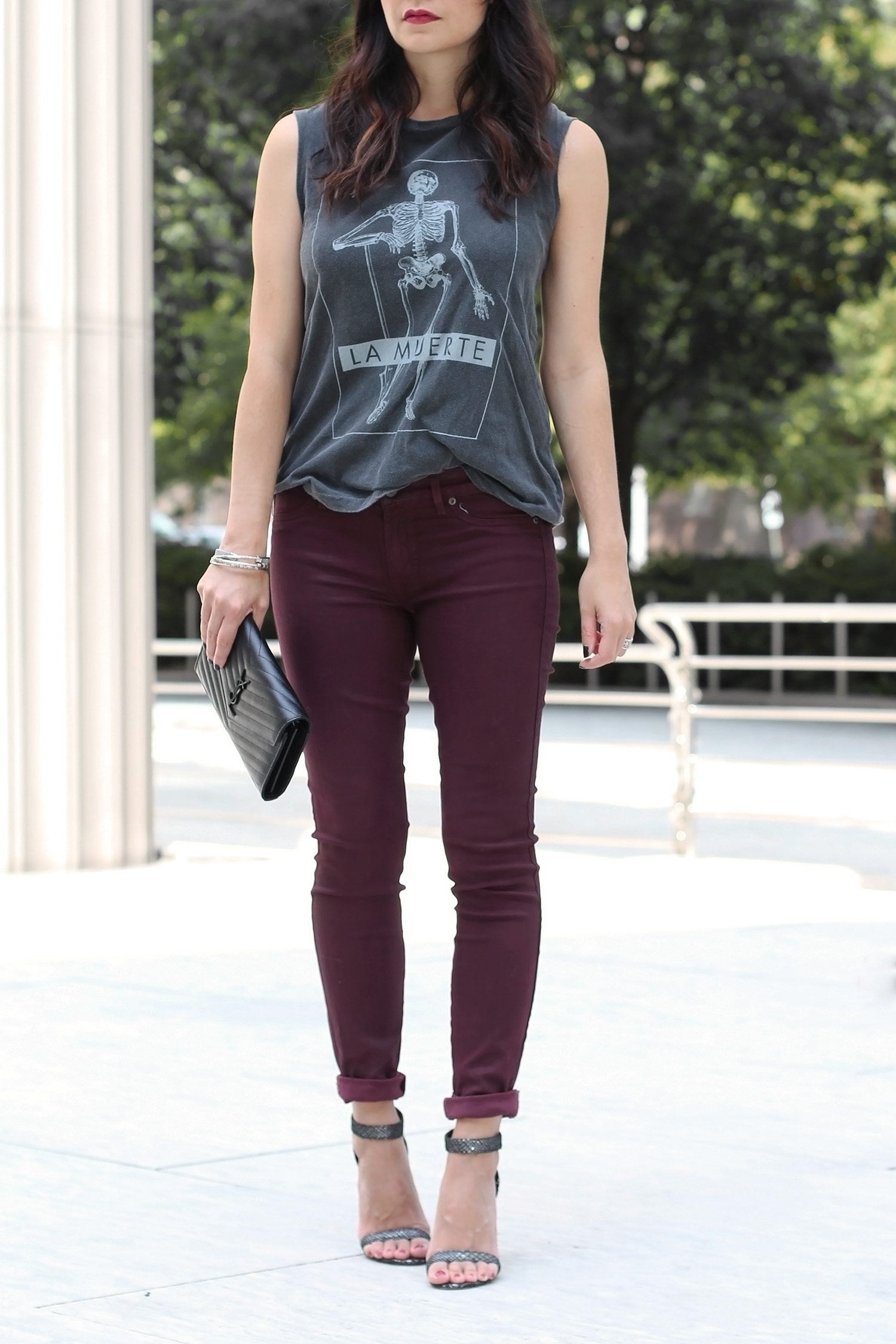 Oxblood Colored Jeans