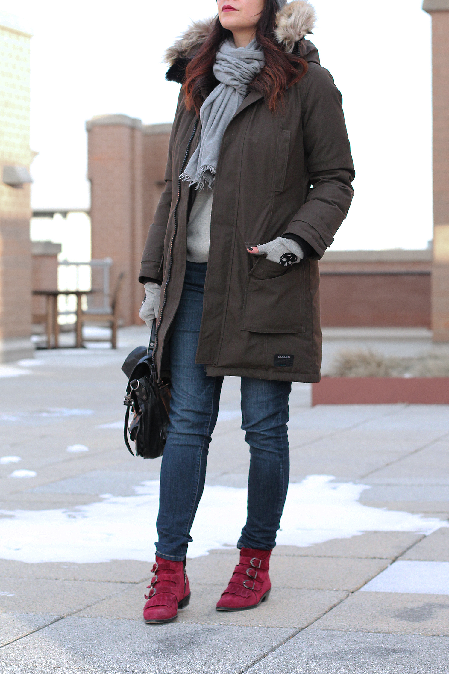 Cute Winter Oufit, Cold Weather Style, Parka Jacket for Women