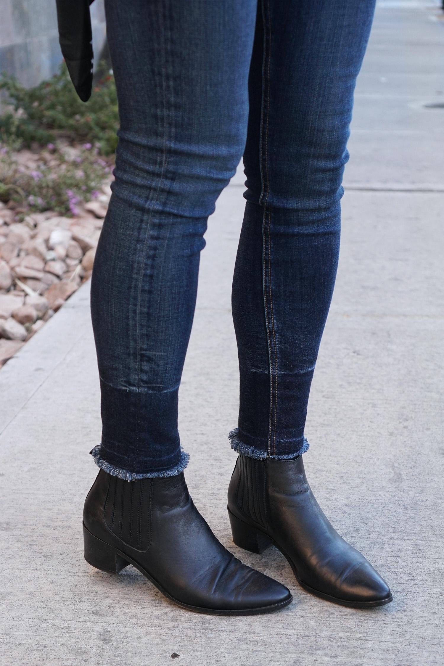 Rag and Bone Skinny Jeans, Modern Vice Handler Boots