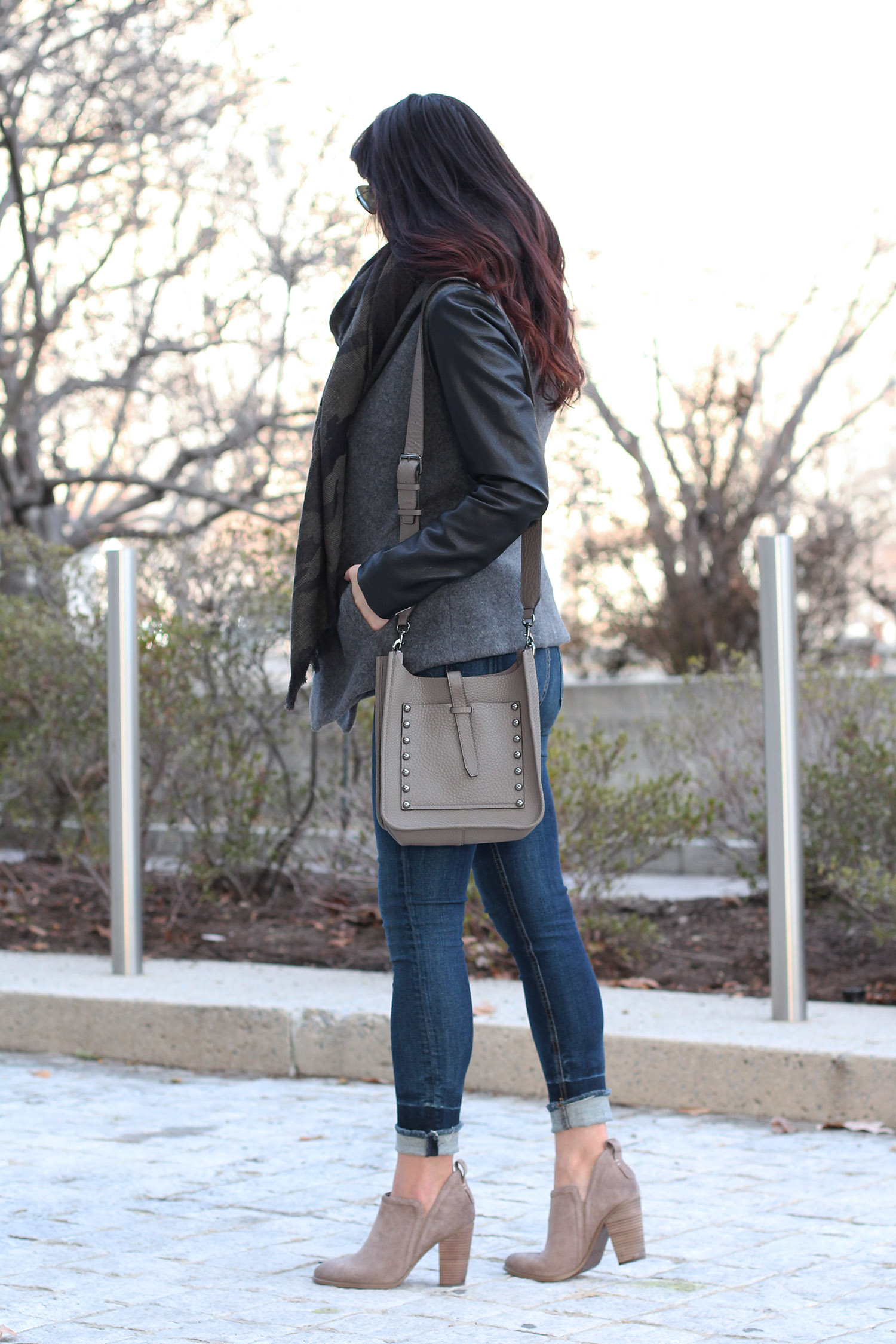 Cute Outfit for Fall; Ankle Boot Outfit