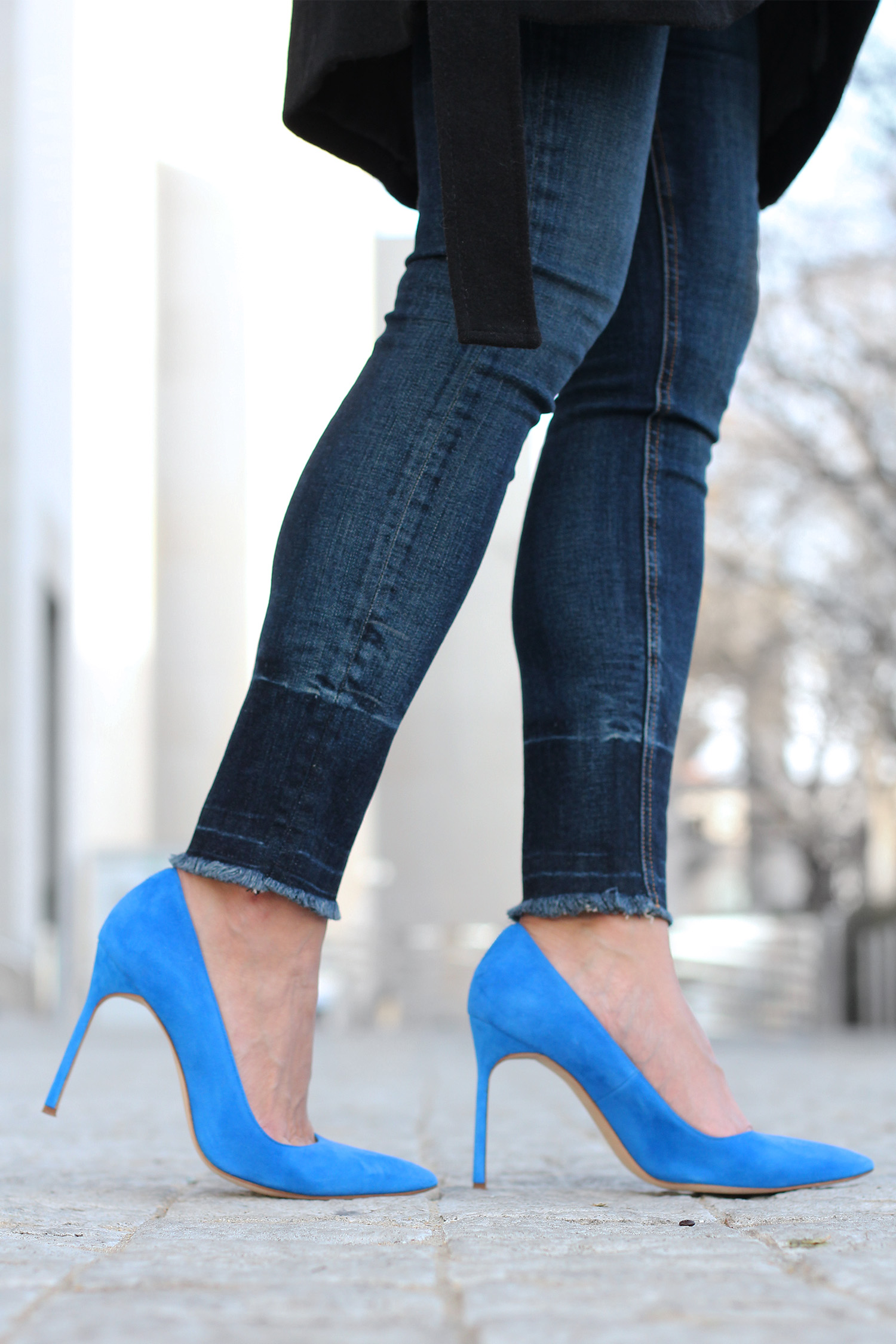 Manolo Blahnik BB Pumps; Blue Suede Pumps