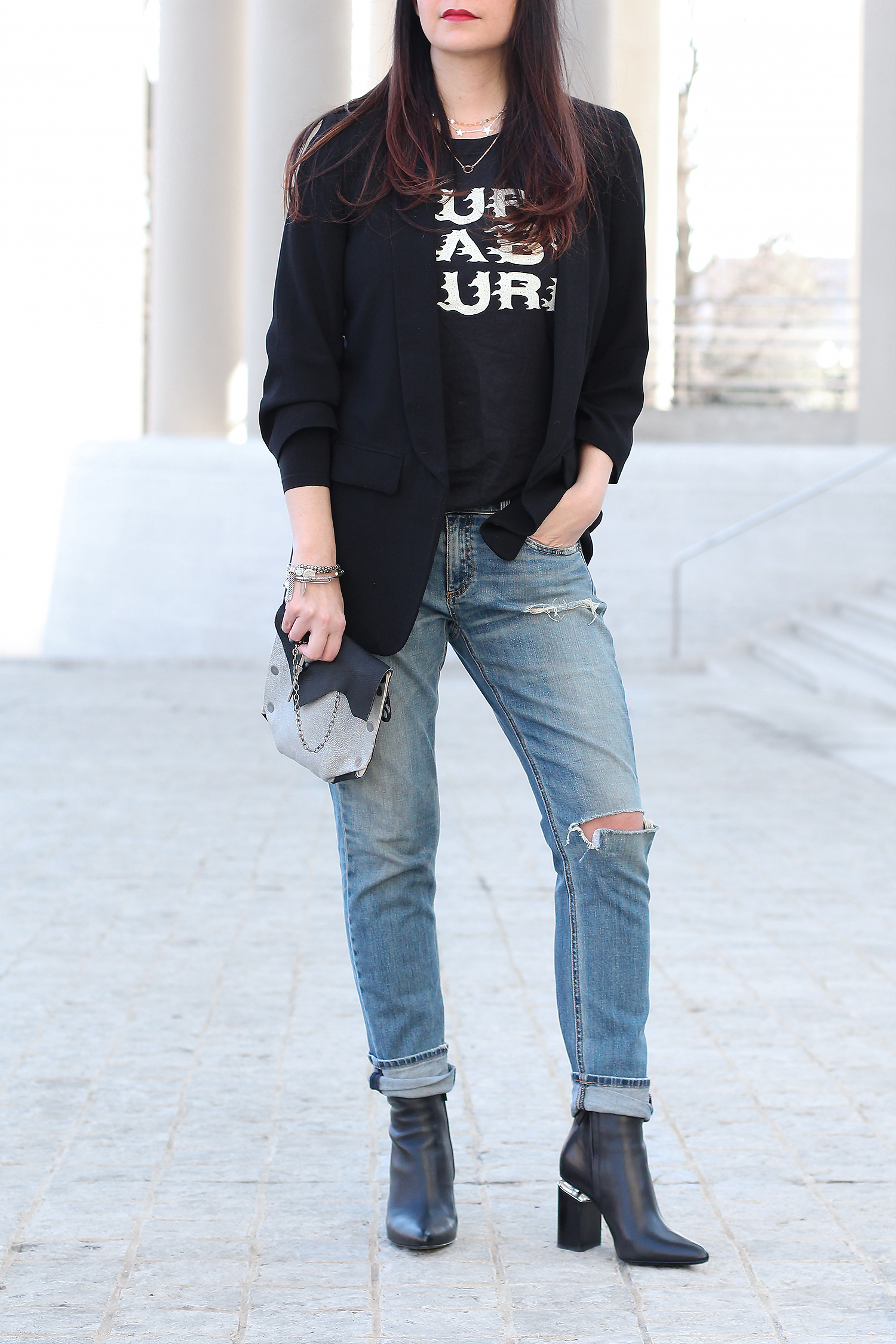 Alexander Wang Boots, Boyfriend Jeans