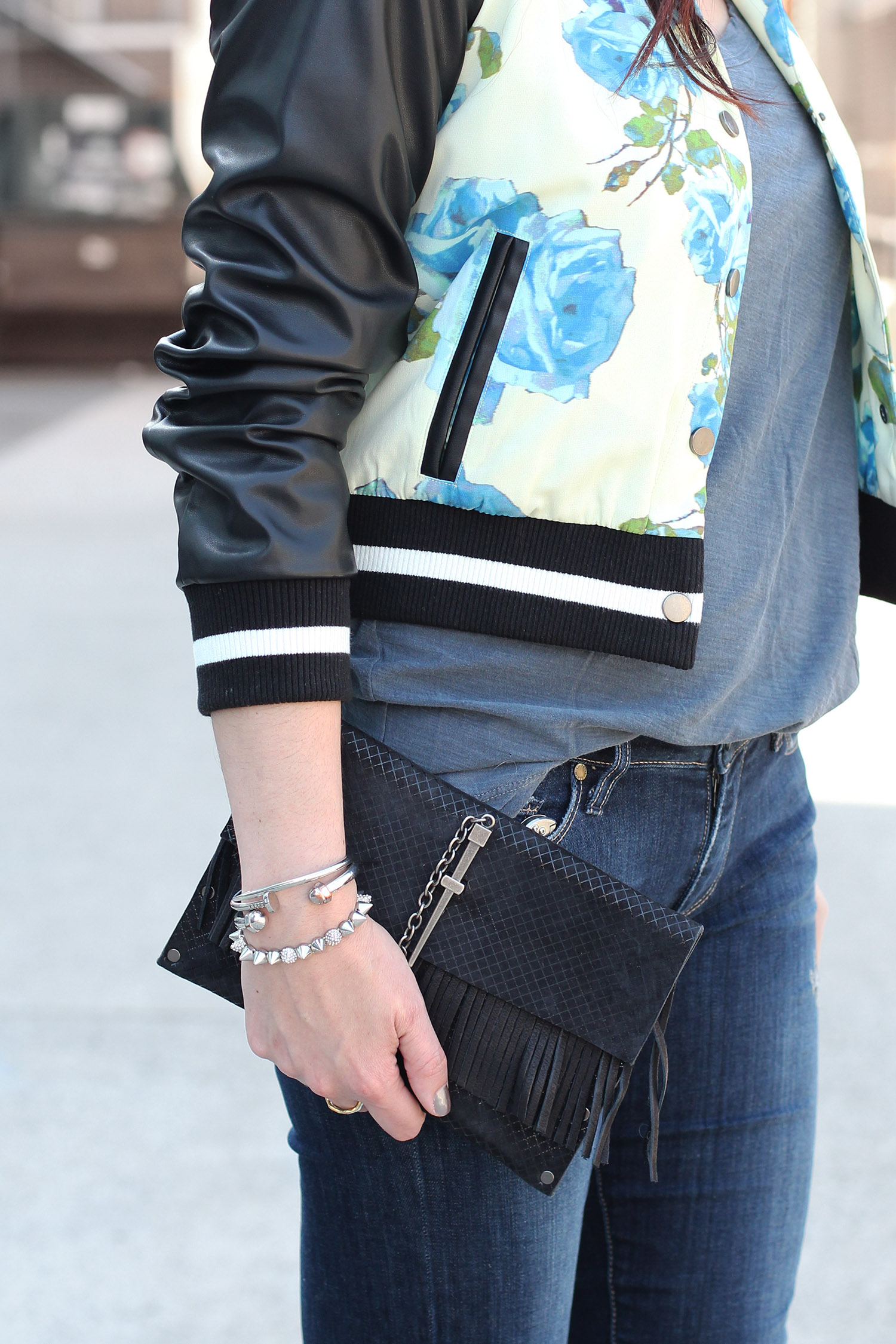 Leather Couture Dagger Clutch