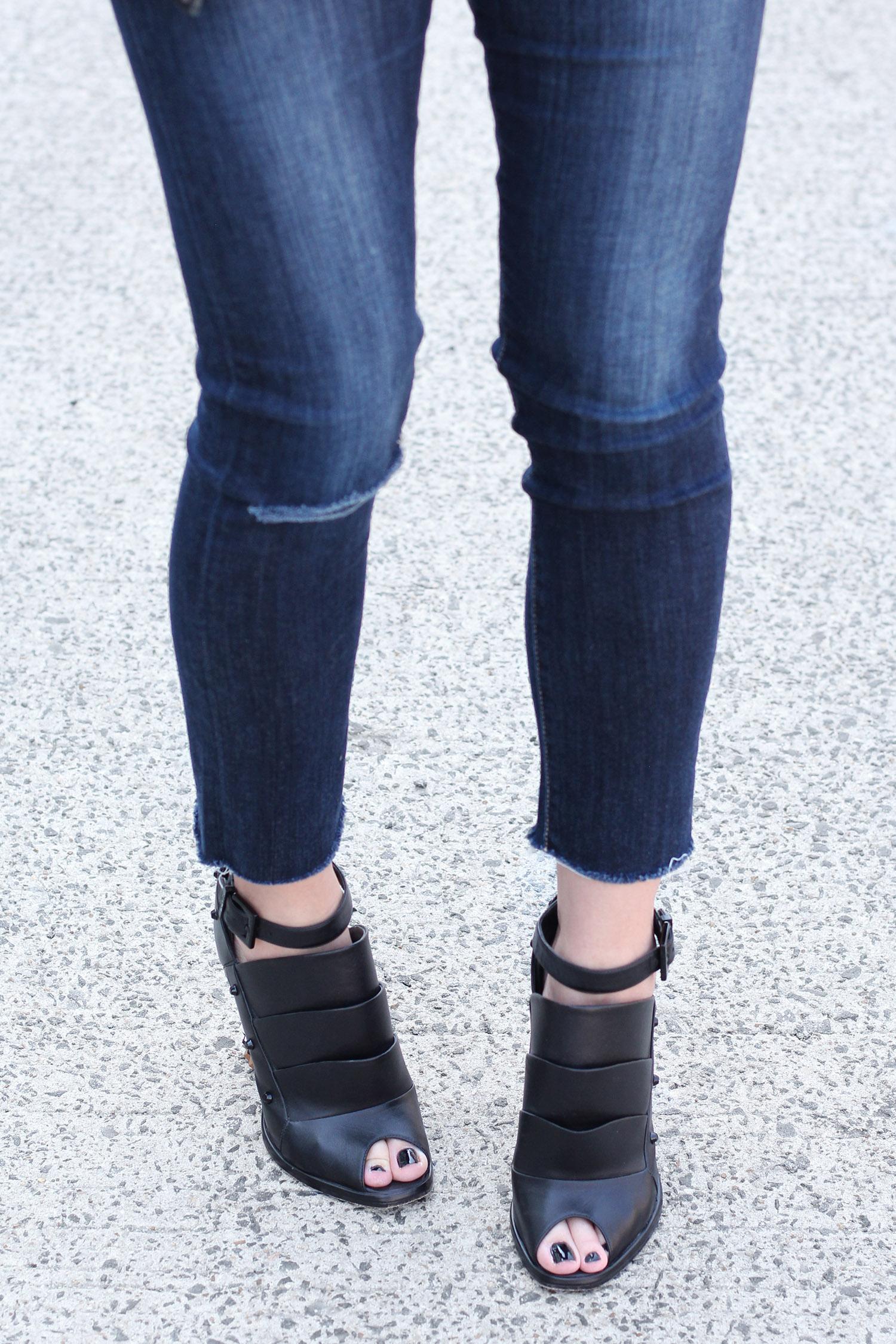 Fendi Ankle Boots, Peep Toe Ankle Booties