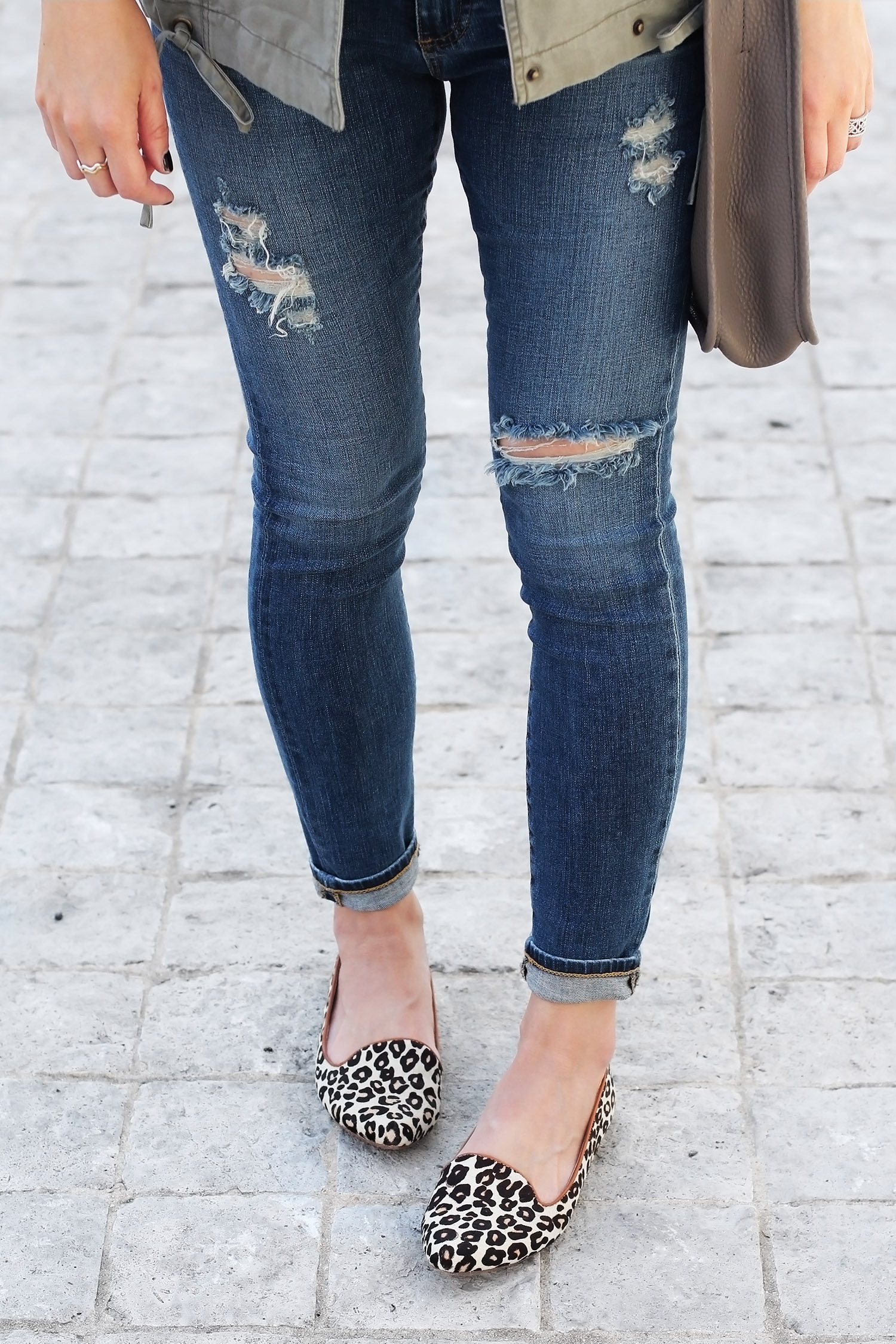 AG Distressed Jeans, Joie Animal Print Flats