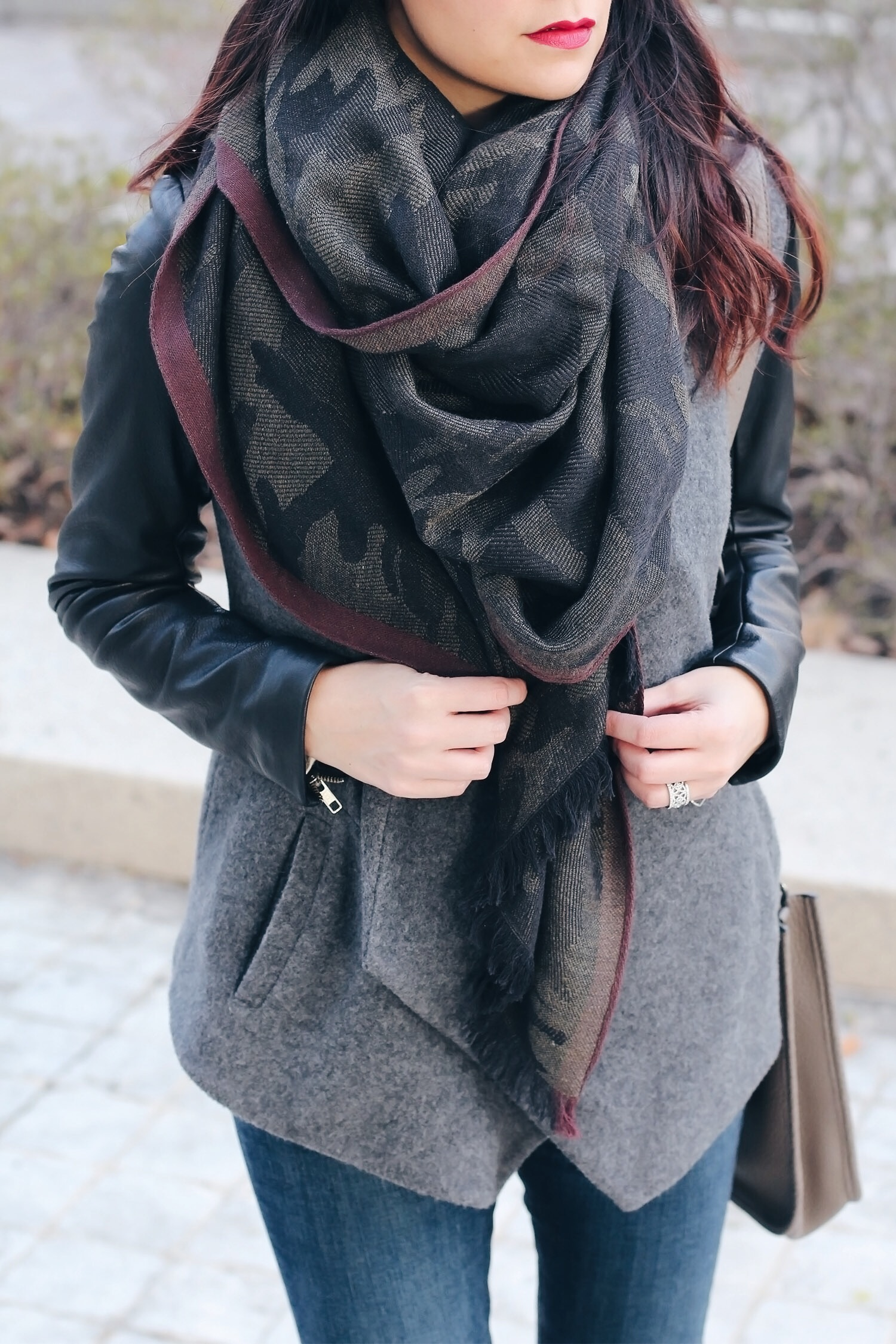 I seriously stalked this leather sleeved Theory wrap jacket for a little over a year when I finally found it. I was cleaning up my watch list and checking links when low and behold this beauty was on sale.