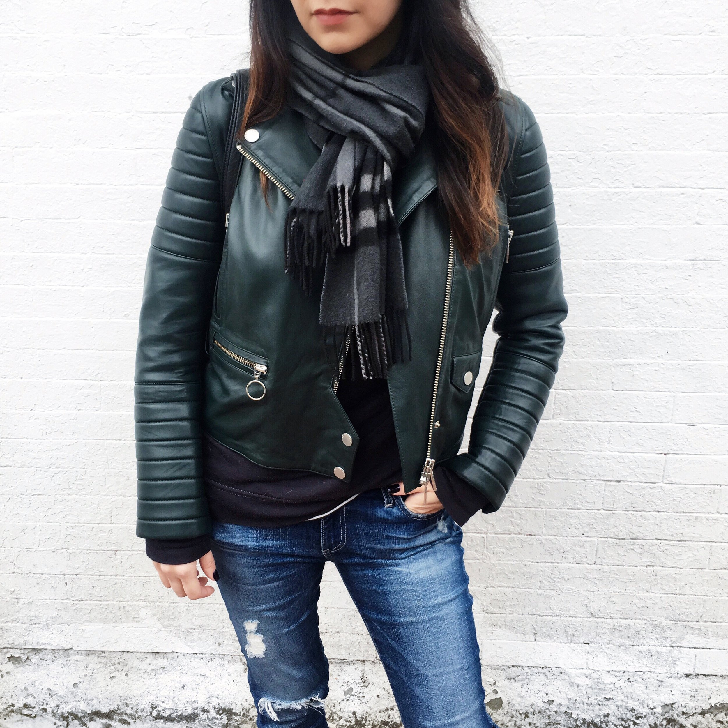 I got this Arrivals Leather jacket at almost 40% off because of an email I received about their end of season sale.
