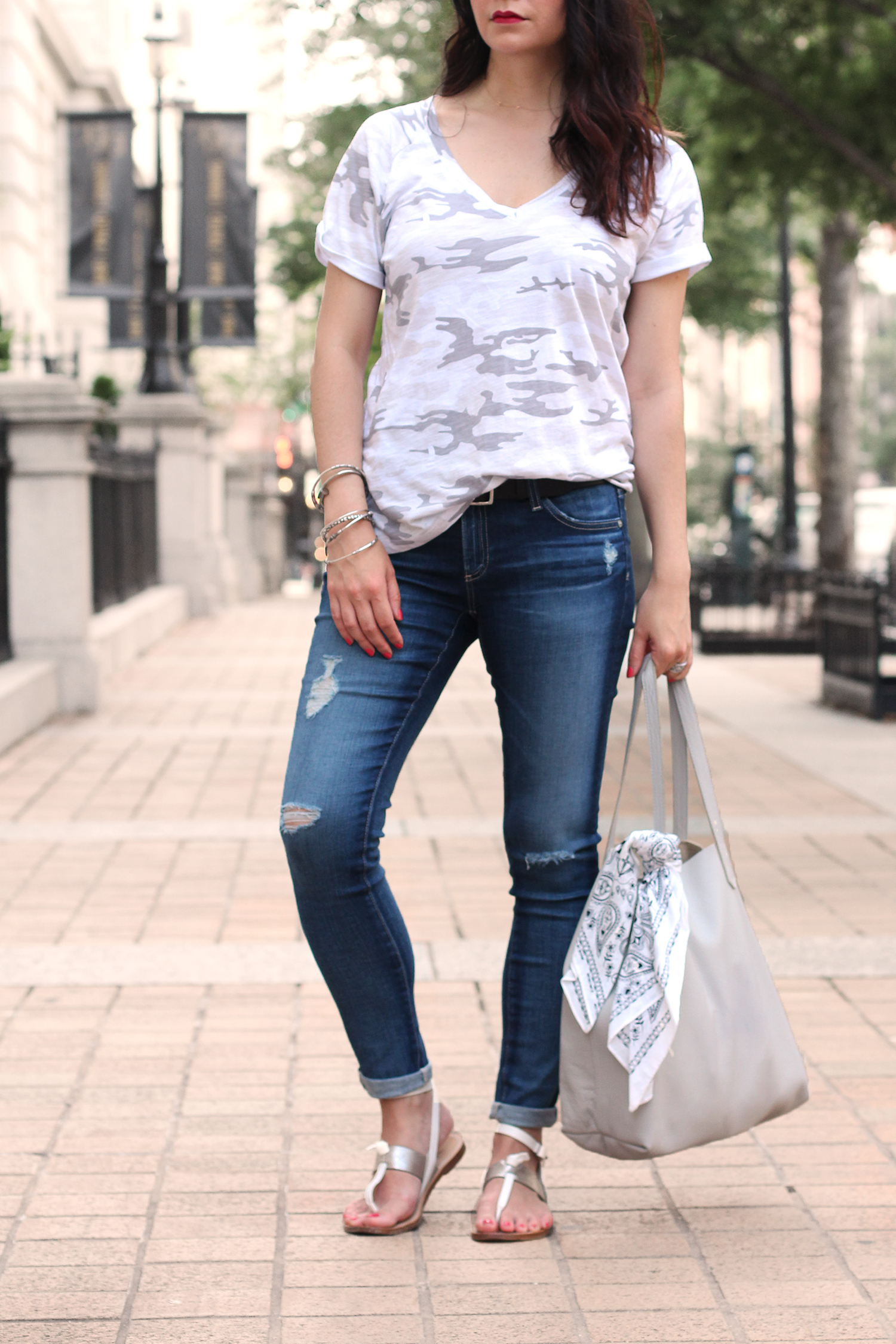 White and Grey Camo T-Shirt