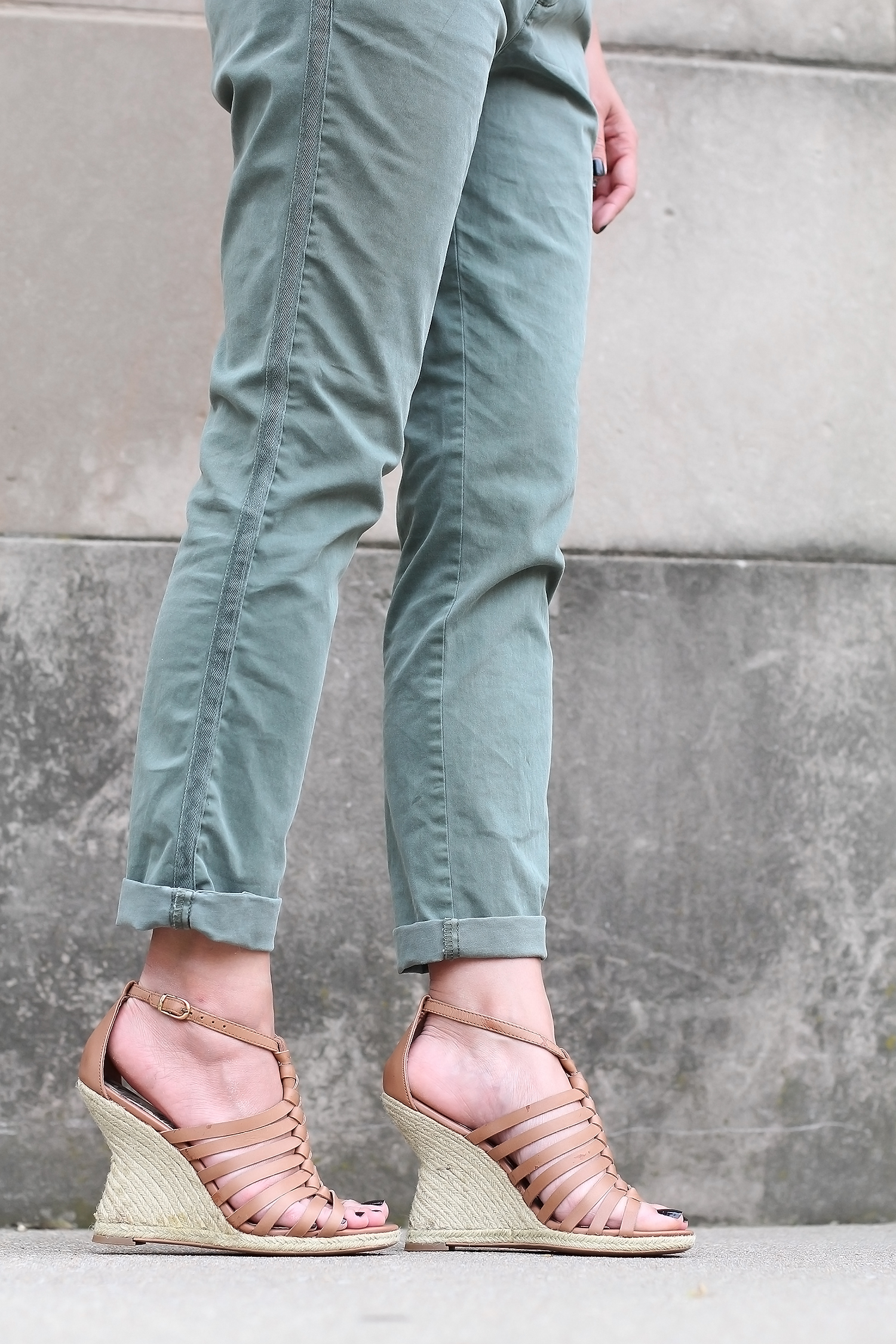 Espradrille Wedges with Pants Outfit