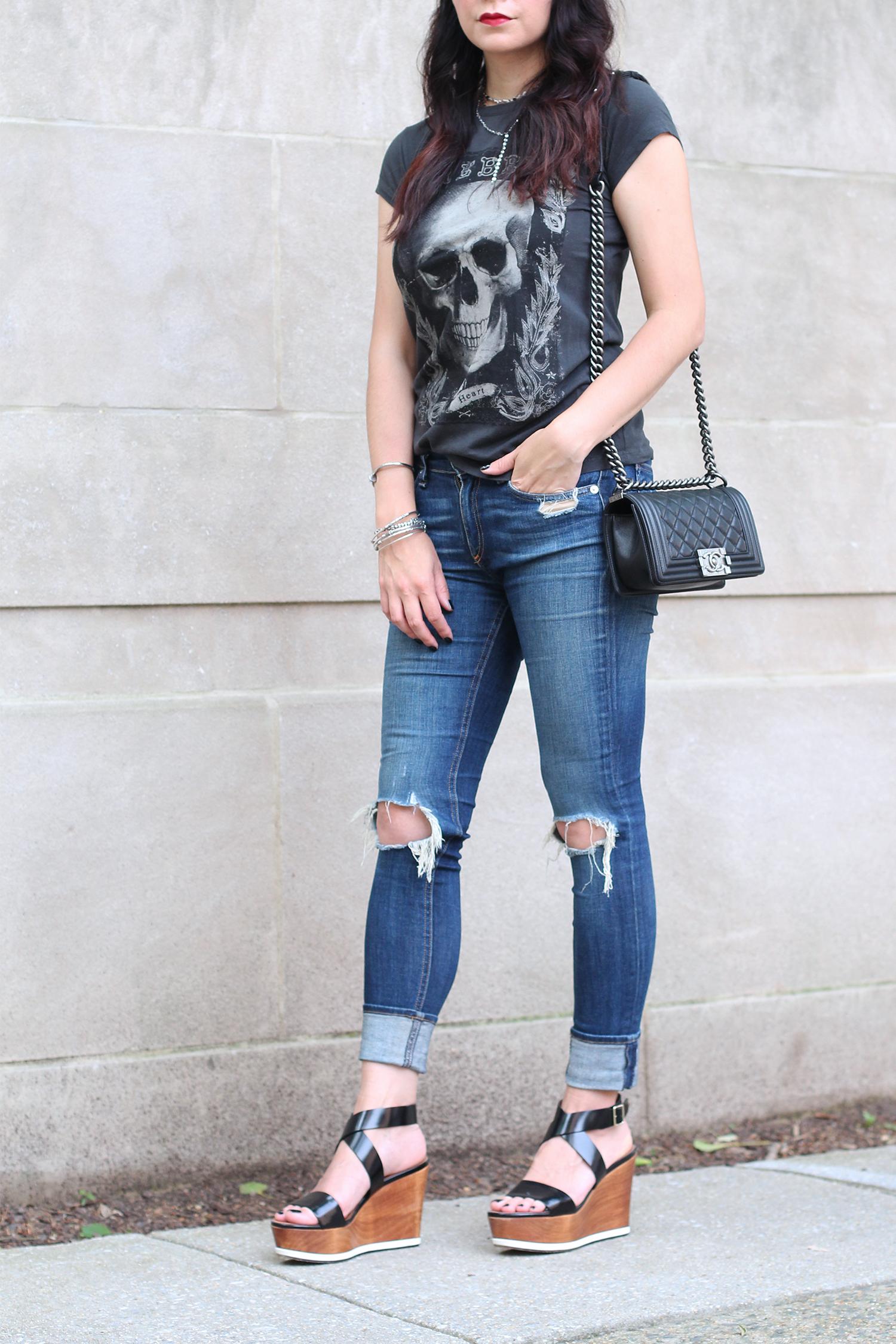 Rag and Bone Distressed Jeans