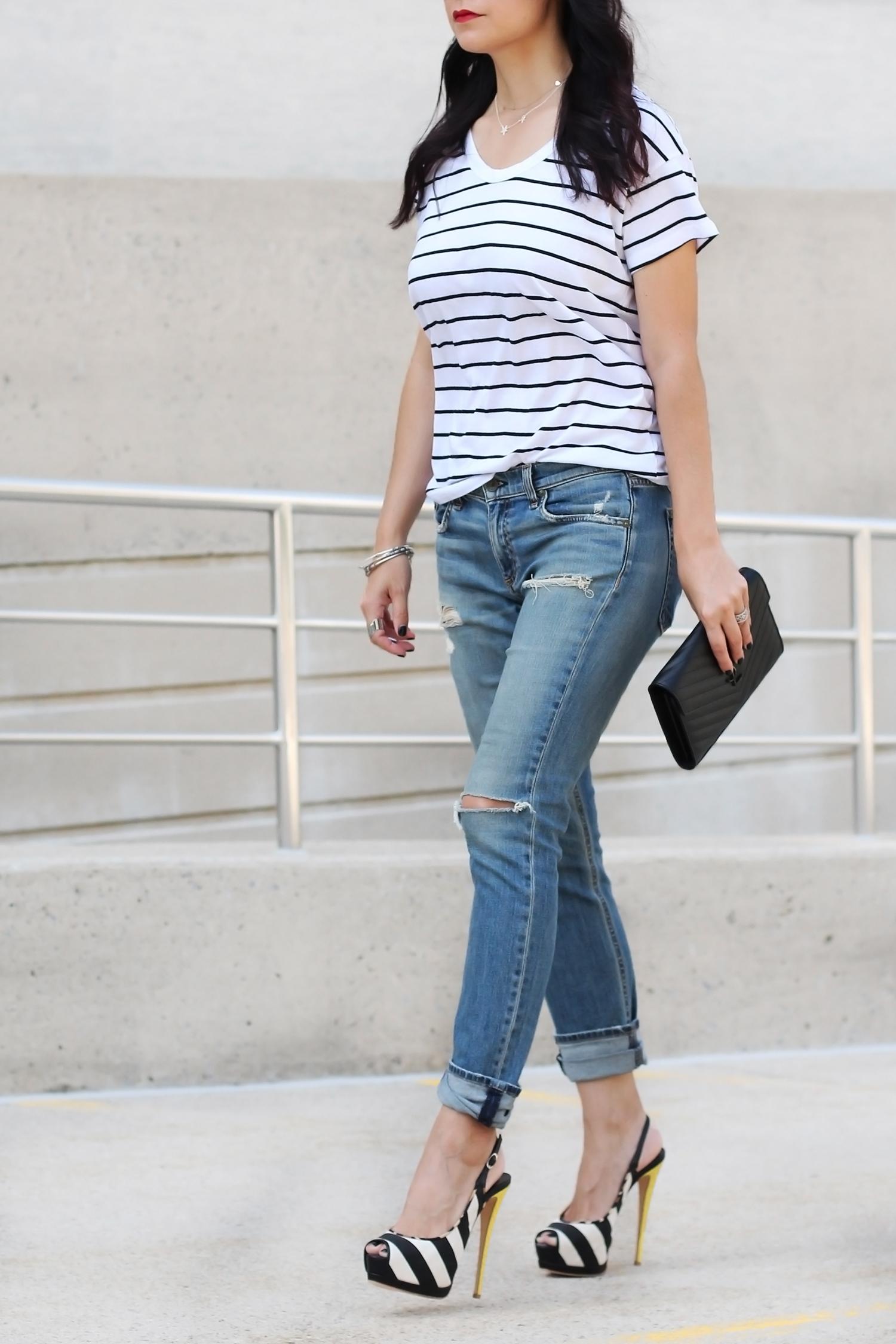 Stripe Shirt Look