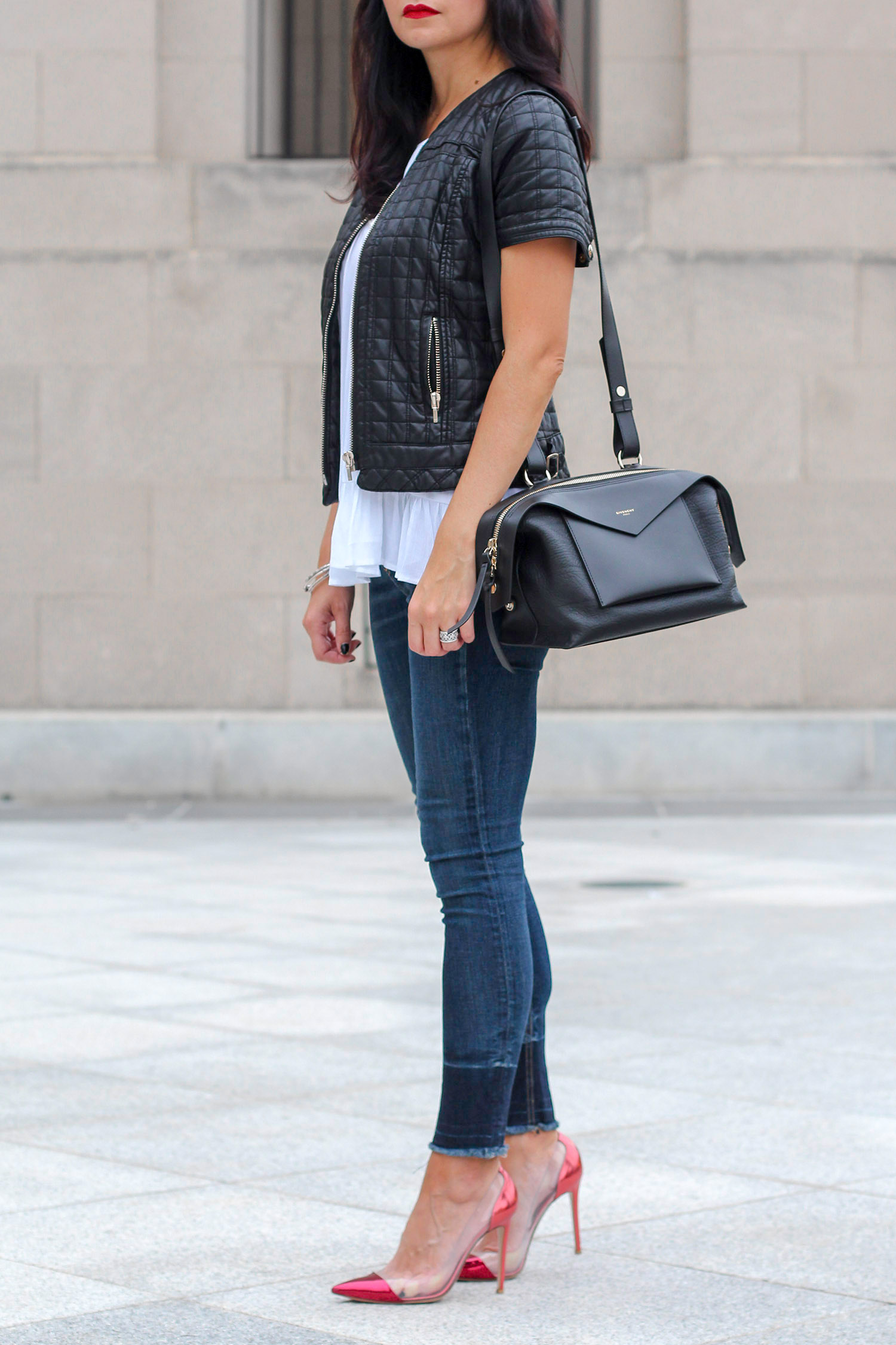 Peplum Top, Rag and Bone Skinny Jeans