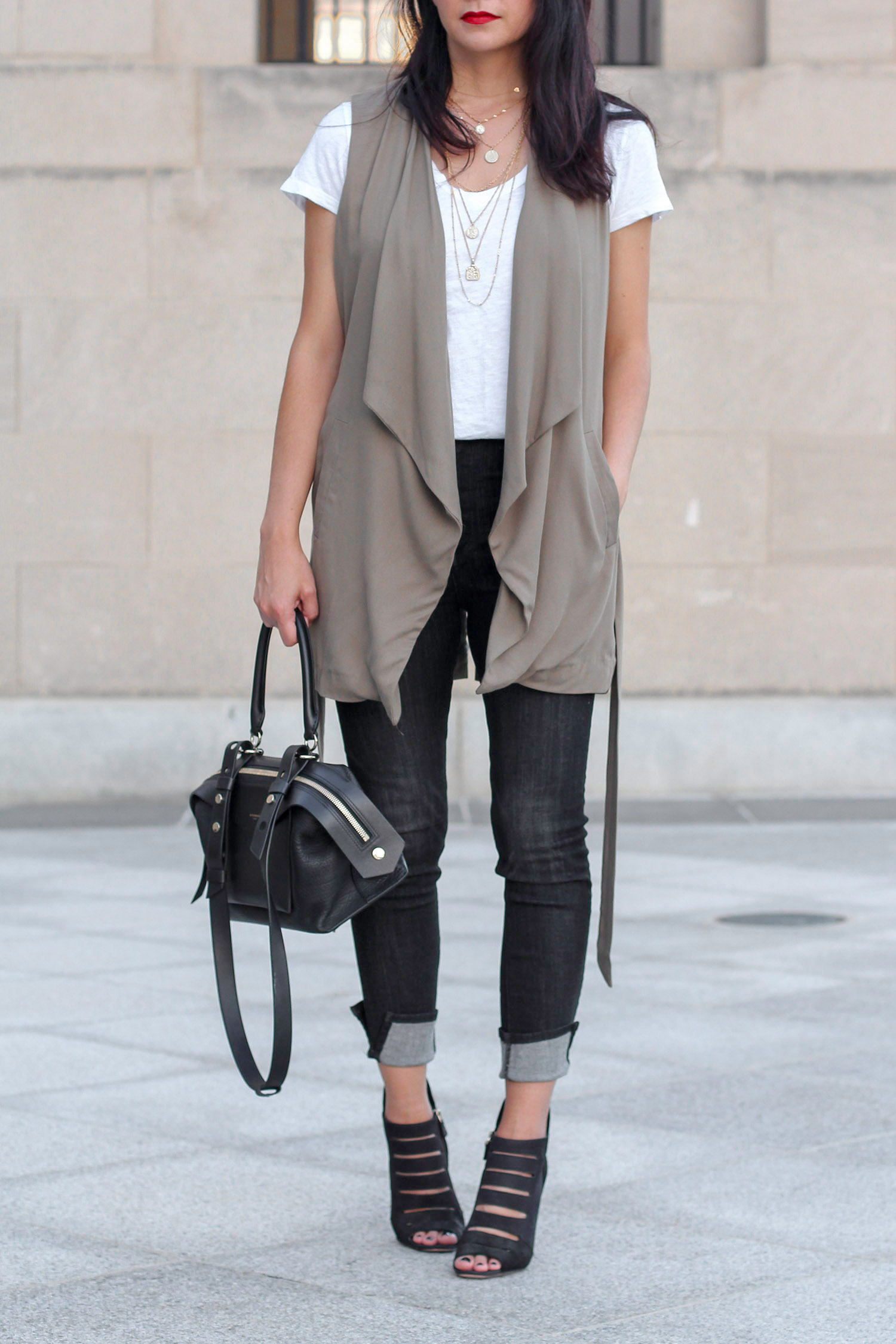 Belted Trench Vest