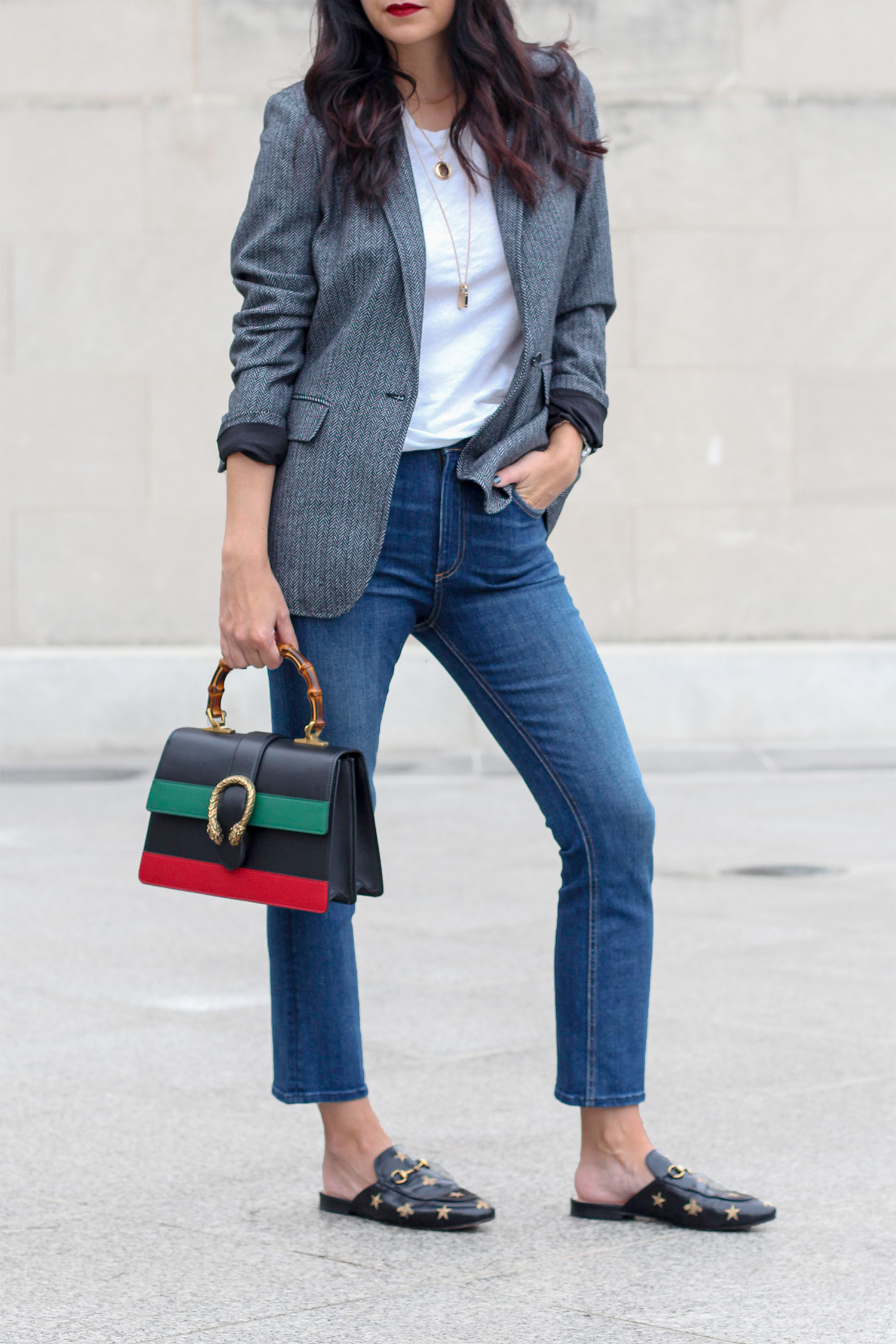 Casual Jeans and Blazer Look