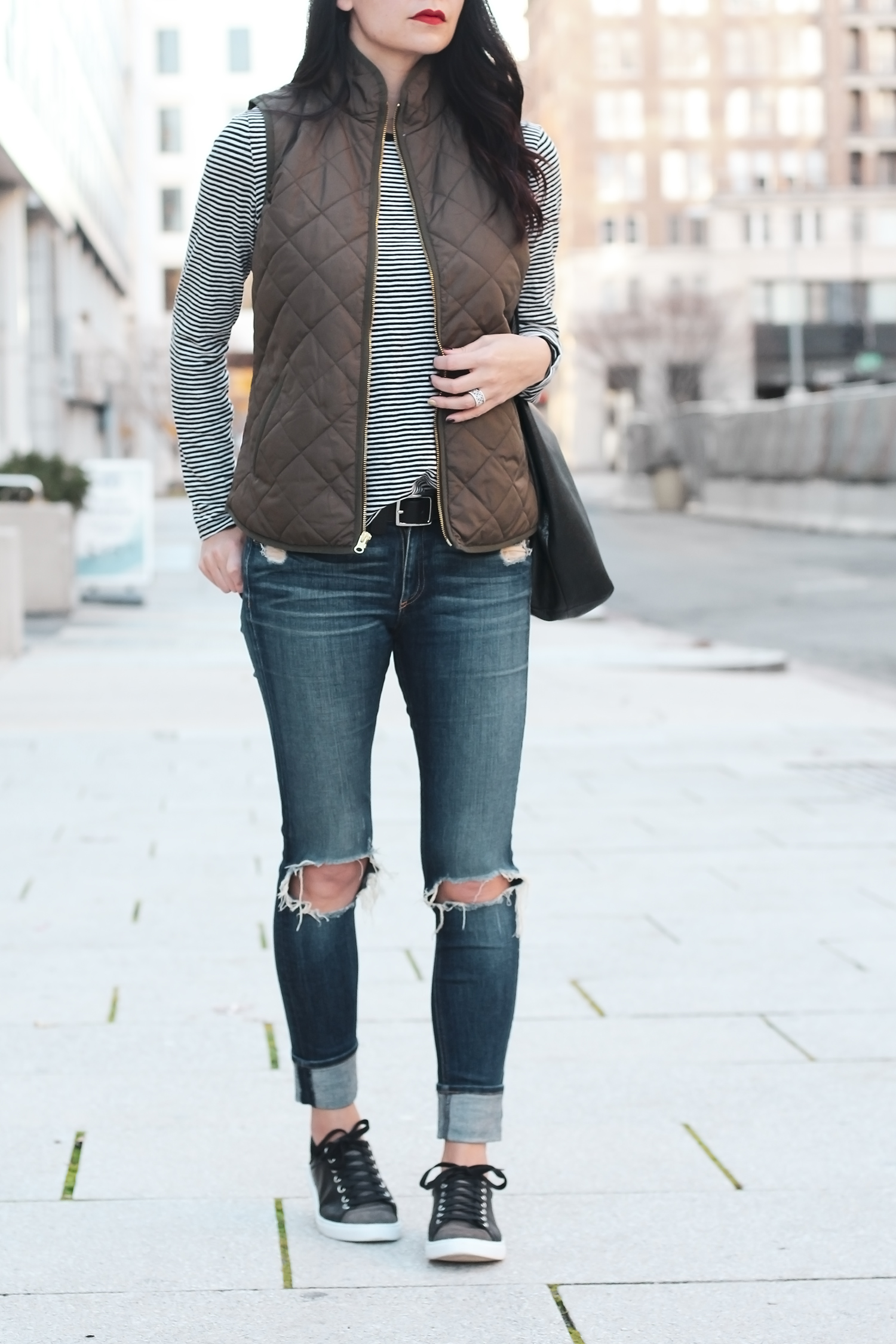 Distressed Jeans Outfit, Concealed Carry Outfit