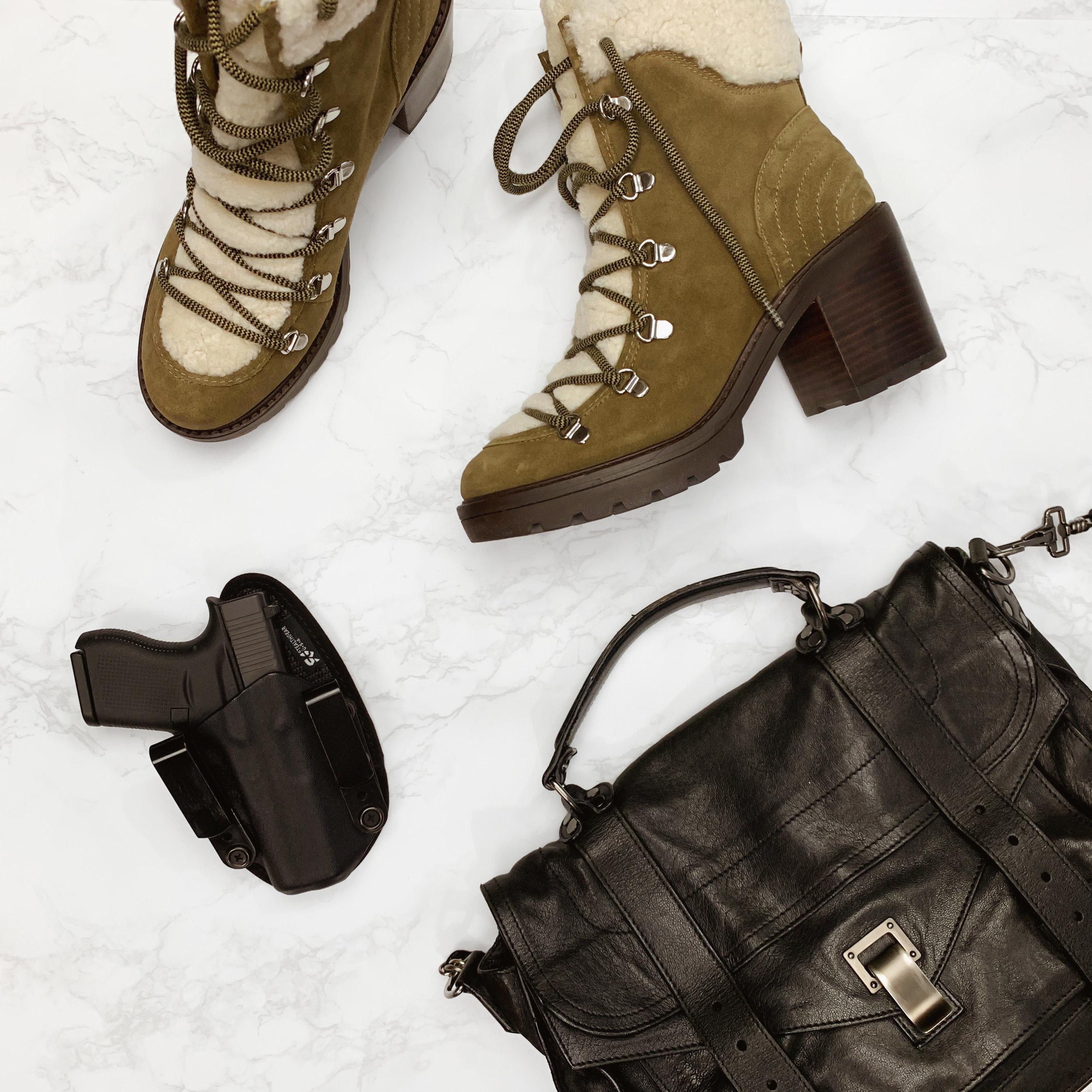 Marc Fisher Boots, Proenza Schouler PS1, Glock 43