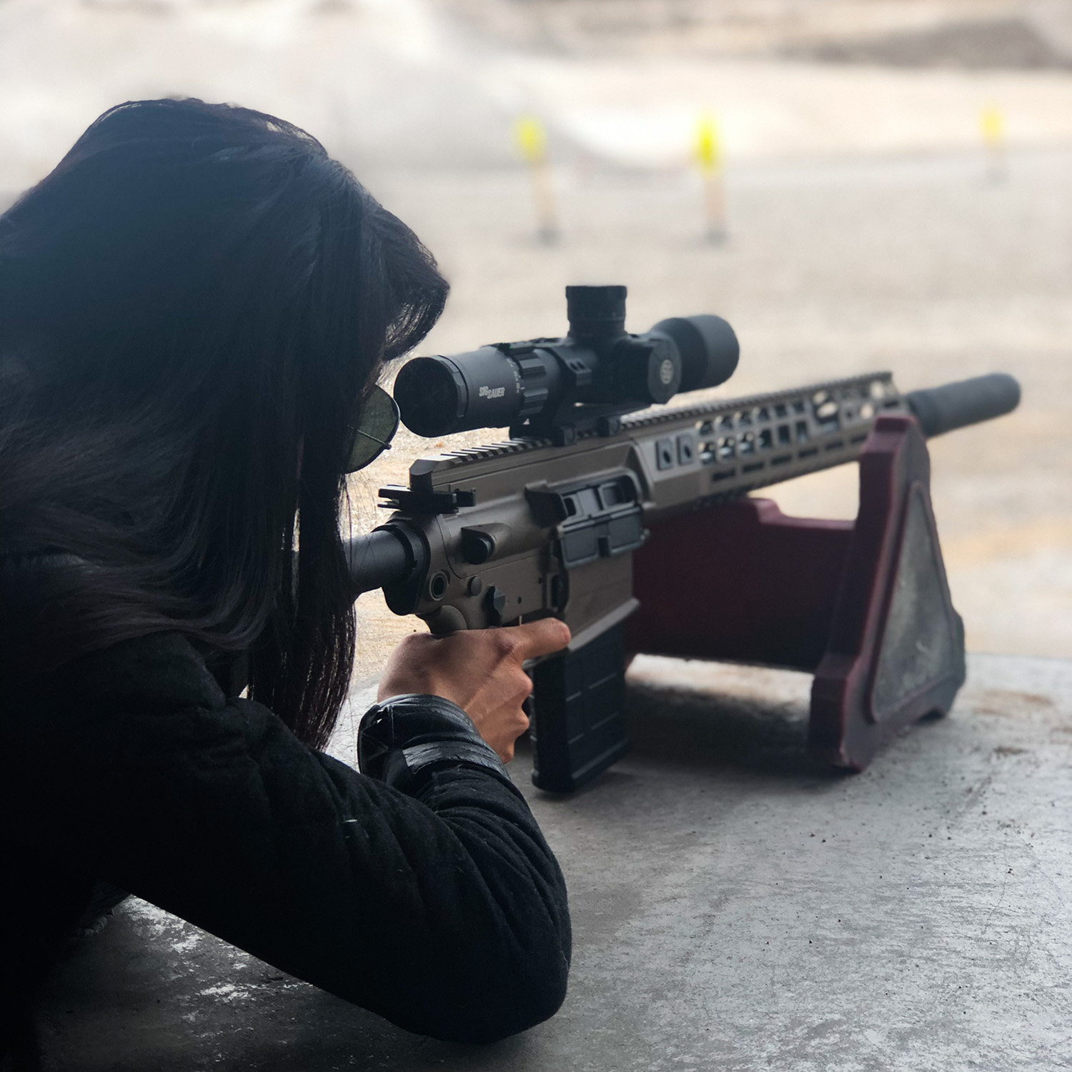SIG716 with a TANG06 scope, SHOT Show, SIG Range Day