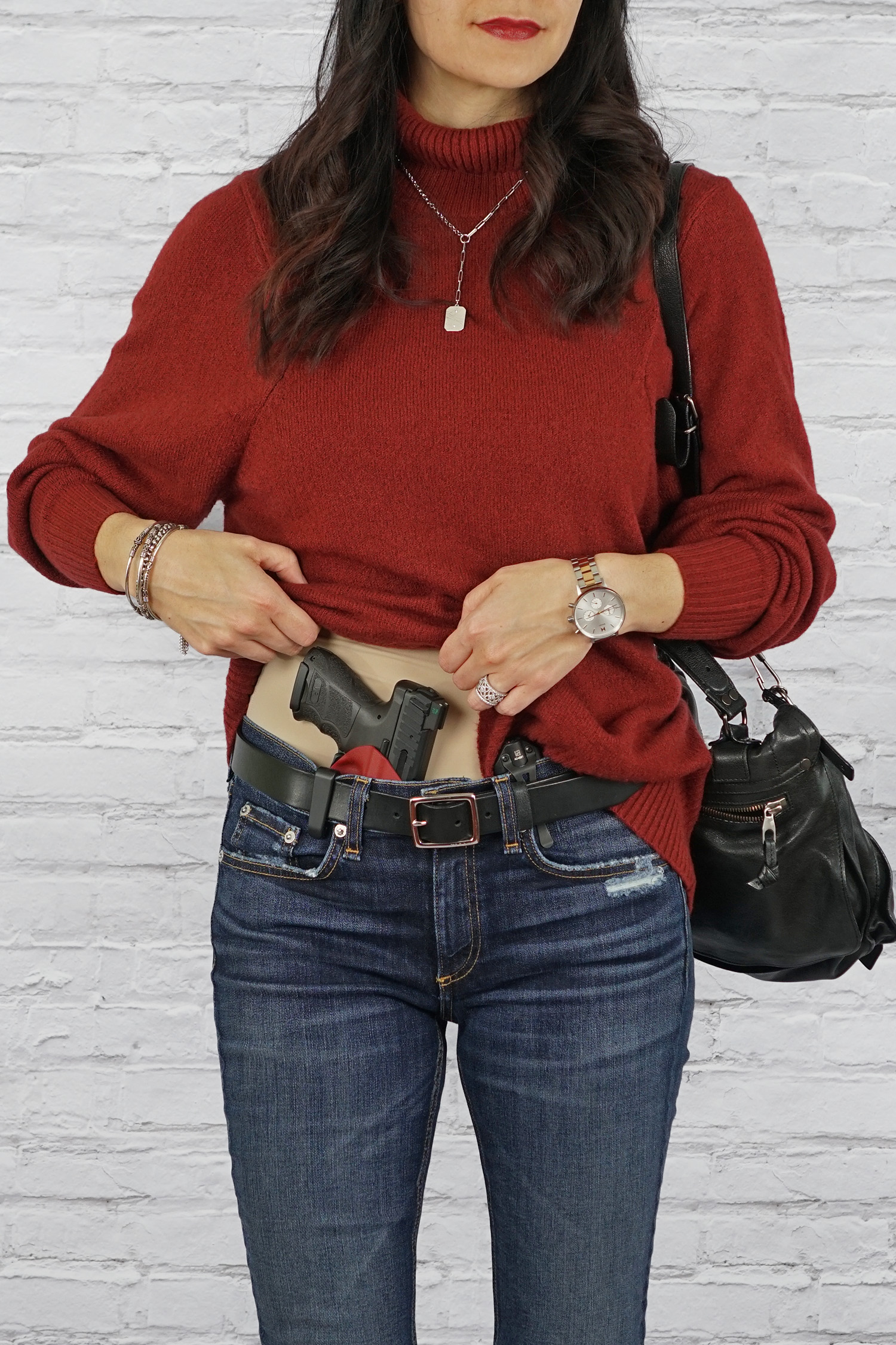Concealed Carry for Women, Women's Concealed Carry Tips, Heckler & Koch VP9SK, Blacksmith Tactical Holster