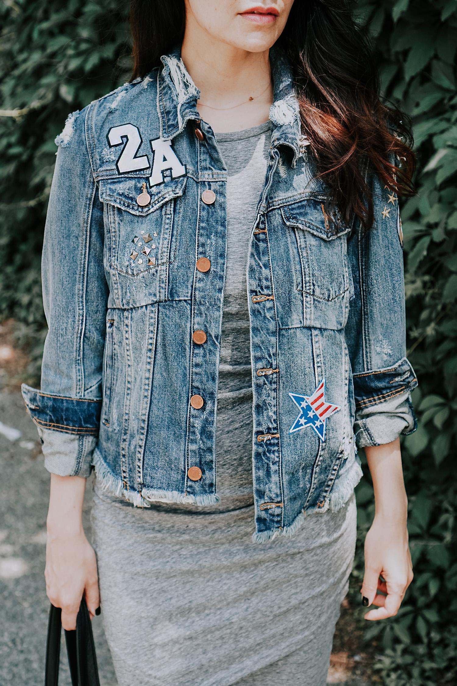 2nd Amendment Custom Jean Jacket