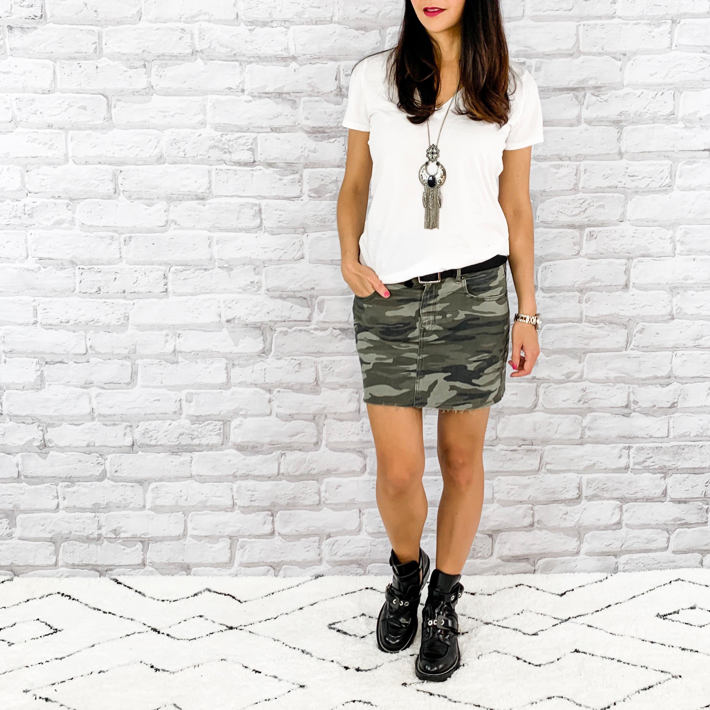 — OUTFIT DETAILS —    Express Skirt     |   Gap T-Shirt   | Balenciaga Boots   — CCW DETAILS —    StealthGearUSA Holster     | Sig Sauer P365   |   Belt
