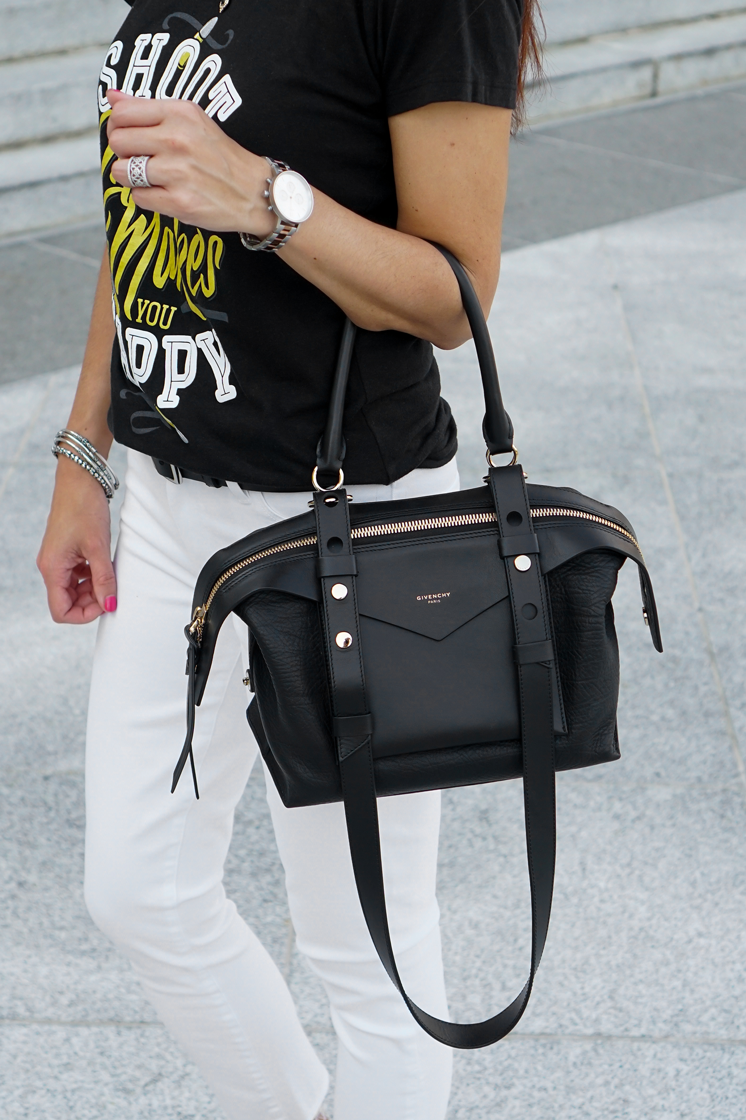 Givenchy Sway Bag, White Jeans for Summer