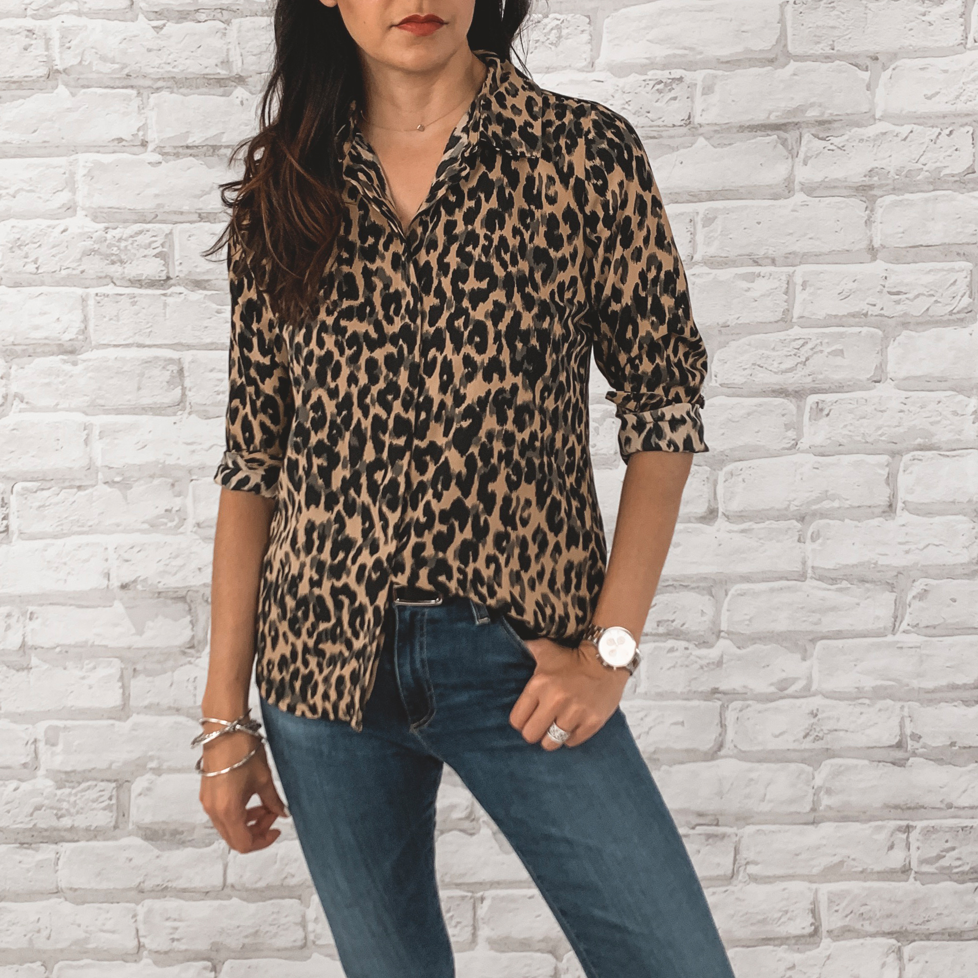 — OUTFIT DETAILS —    Halogen Blouse     {Anniversary Price: $49.90 | After Sale: $79.00 | Wearing: Extra Small} |     AG Farrah High Waisted Skinny Jeans      {Anniversary Price: $149.90 | After Sale: $225.00 | Wearing: 26}    — CCW DETAILS —    StealthGearUSA Holster     |   Belt   | Glock 43