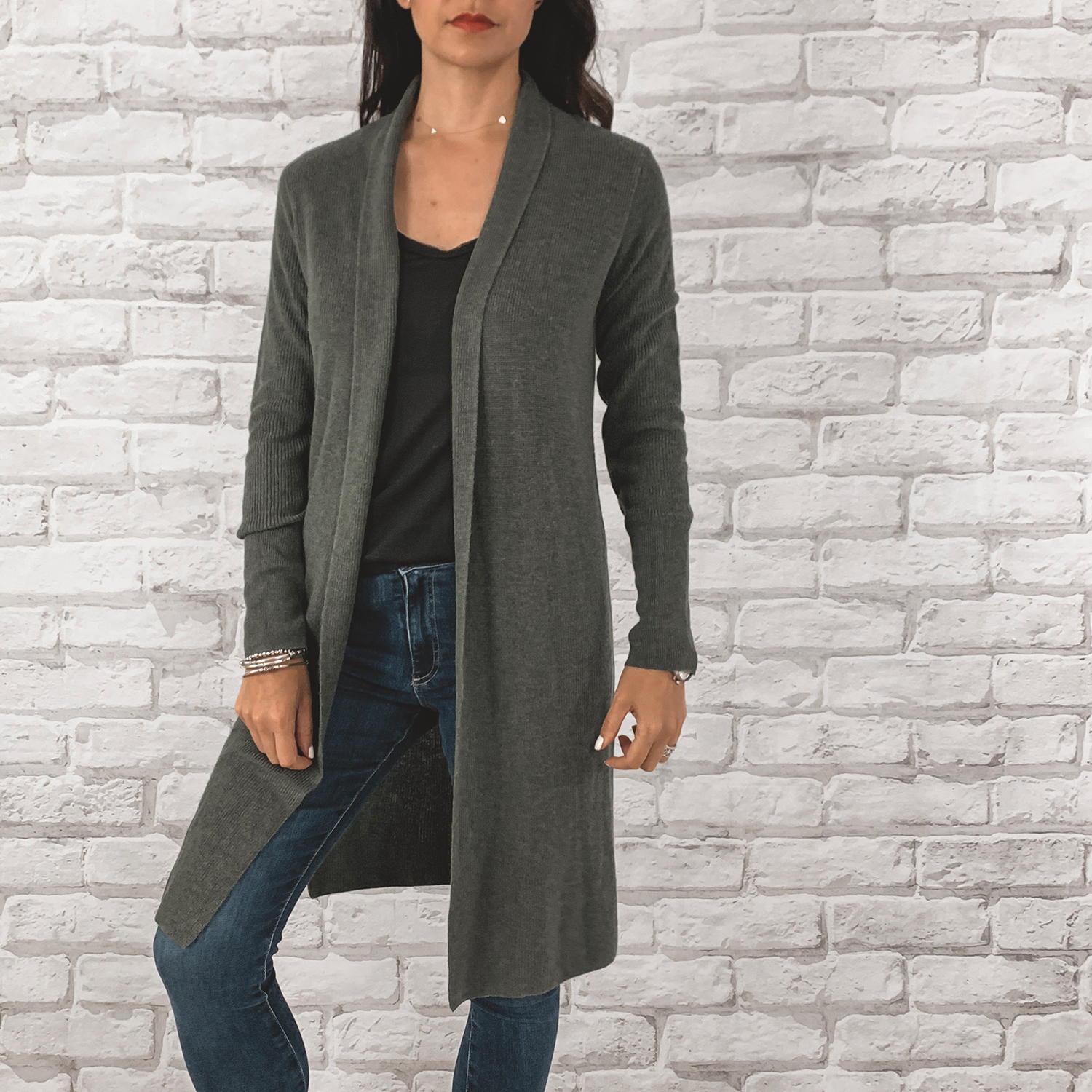 — OUTFIT DETAILS —    Leith Longline Cardigan      {Anniversary Price: $45.90 | After Sale: $69.00 | Wearing: Extra Small}  |   BP. Raw Edge Tee    {Anniversary Price: $15.90 | After Sale: $25.00 |Wearing: Small}  |   AG Farrah High Waisted Skinny Jeans      {Anniversary Price: $149.90 | After Sale: $225.00 |Wearing: 26}    — CCW DETAILS —    Blacksmith Tactical Holster with UltiClip     | Glock 43