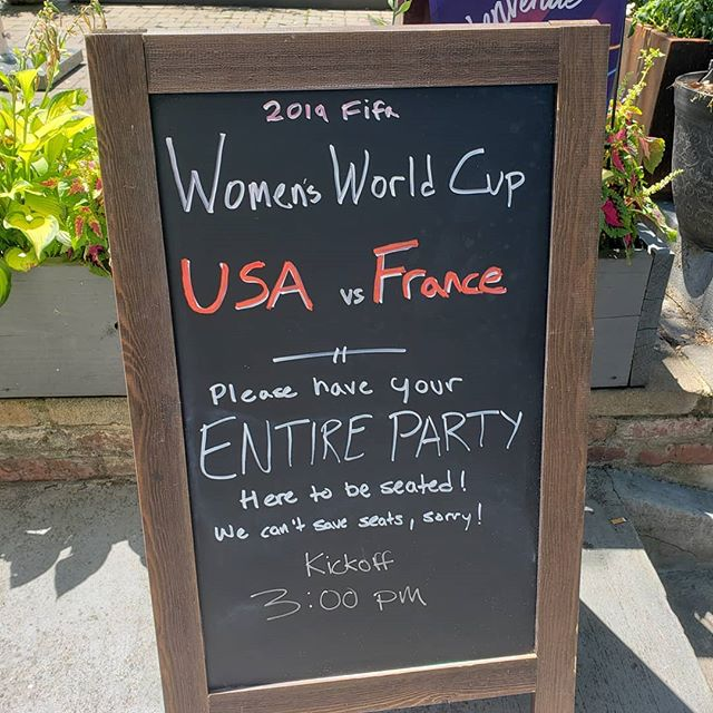Come out to The Airedale to cheer on the USWNT! Doors open at 2, get here early! #uswnt #womensworldcup