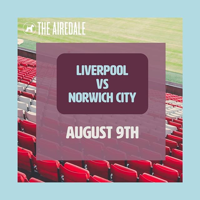 It all begins again August 9th with Liverpool v Norwich City! Open early for the game with a Premier League kickoff party, come join us! #premierleague #epl #liverpoolfc #ynwa #norwichcityfc #soccer