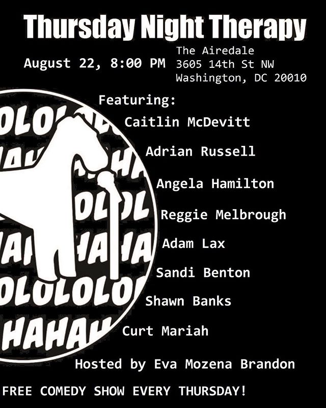 Free Comedy Show TONIGHT! Chase away those mid week blues with free comedy show at the Airedale! @theairedaledc #freeshow #freecomedy #comedythursday #freefunny #lol #comedyandbooze