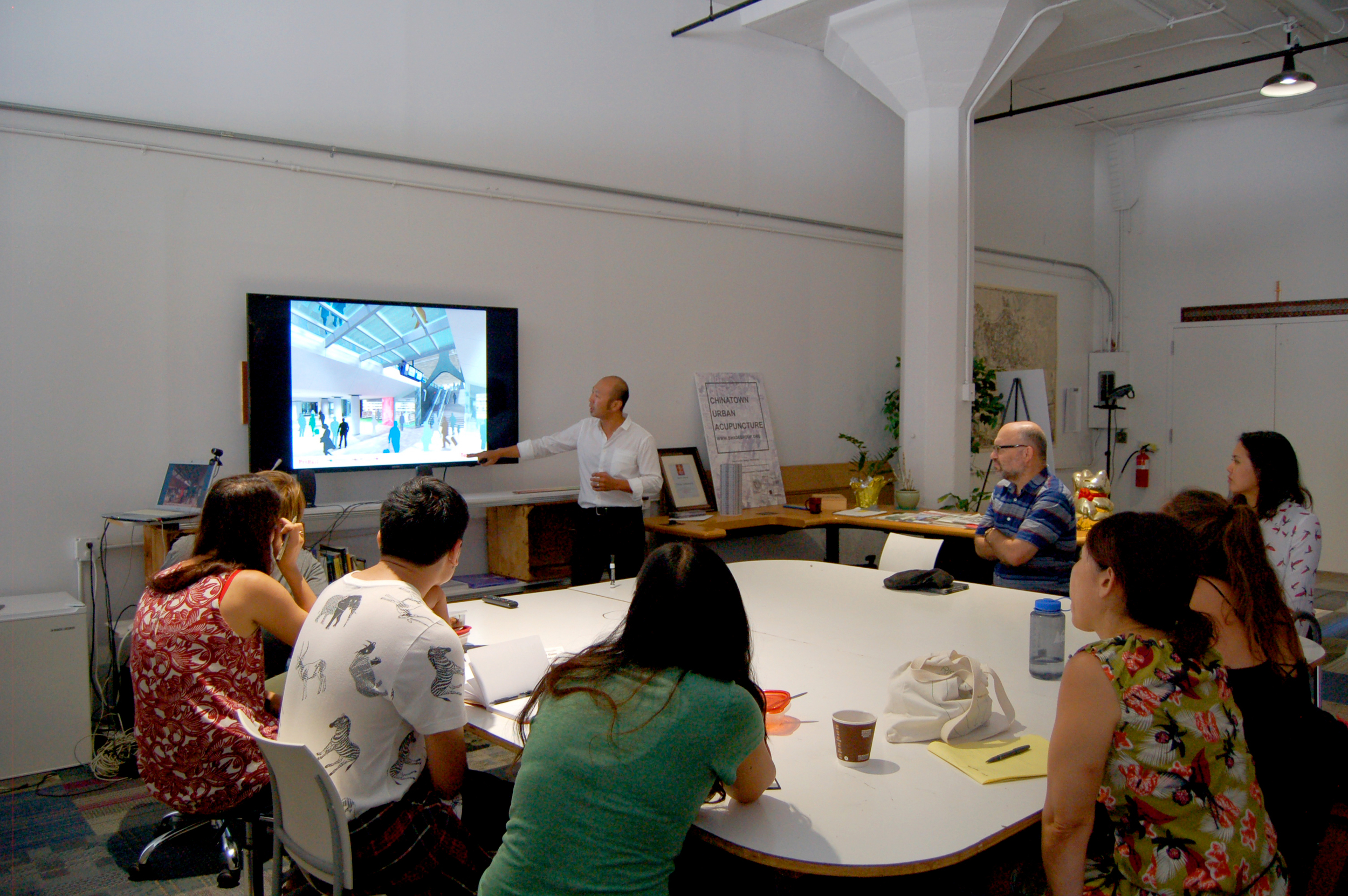 Andrew Tang presentation for SHADE interns on previous Urban Design work.