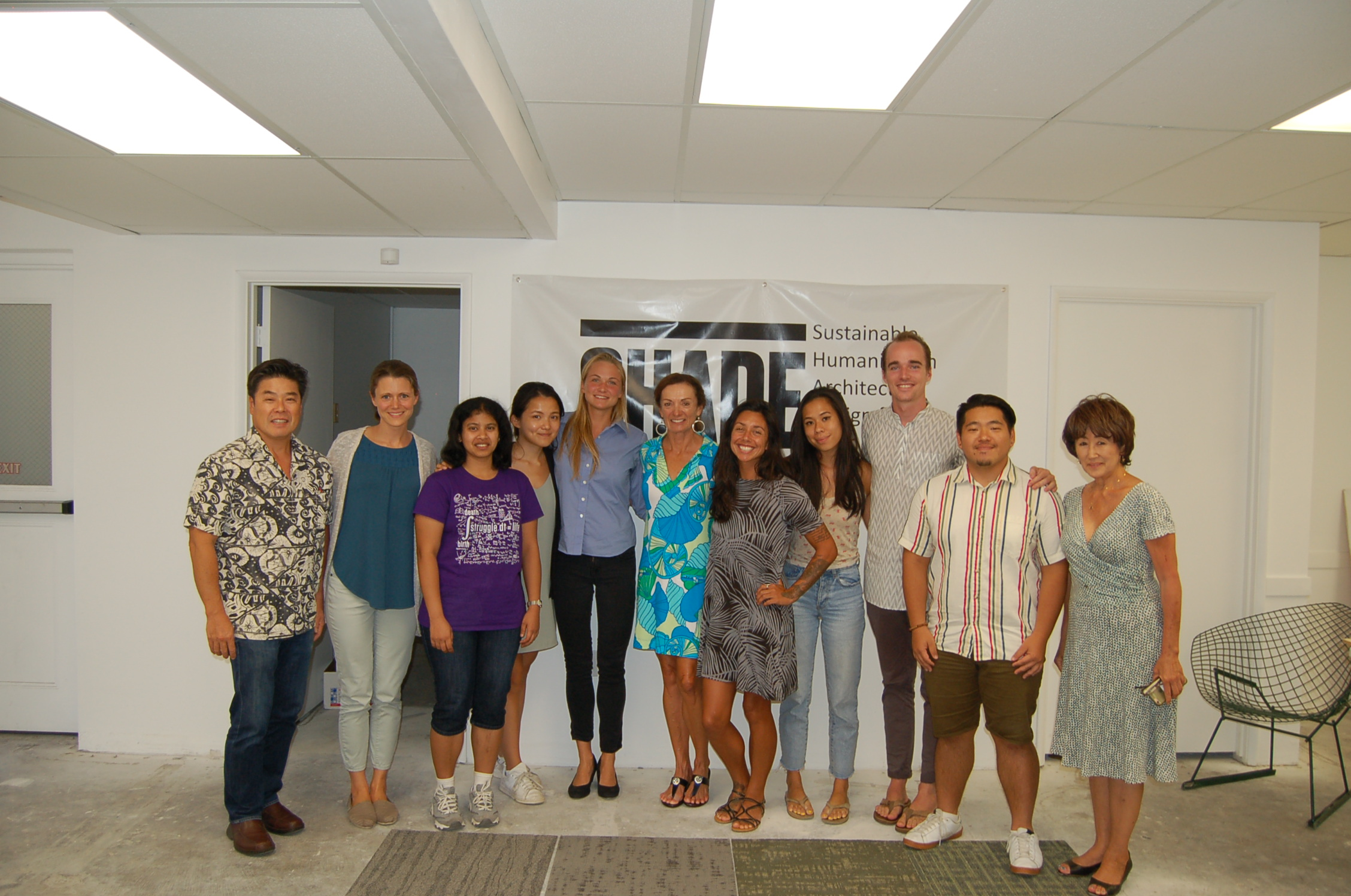 Dean Sakamoto, Danielle Schaeffner, Onam Bisht, Lee Hao Rong, Kelsey Colpitts, Lori McCarney, Justine Espiritu, Connie Kwan, Kyler Carlson, Kevin Kim and Sharon Schneider  (left to right)
