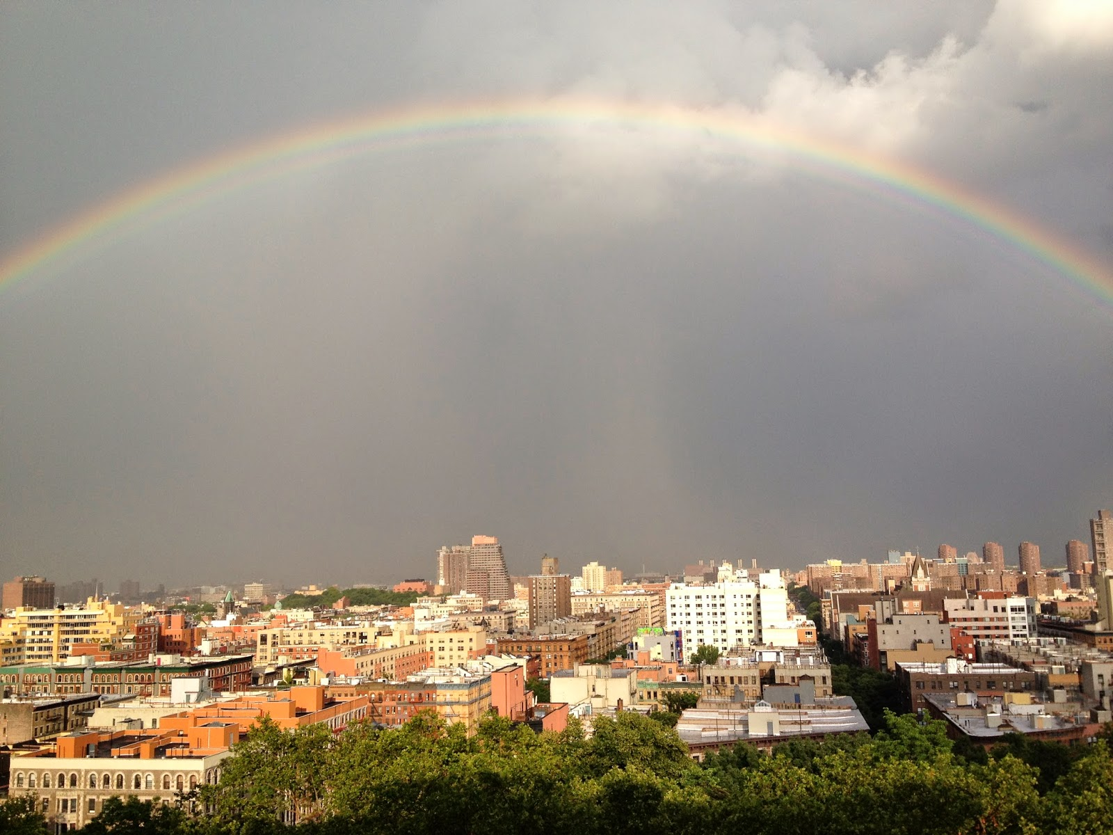 """Rainbows Over Manhattan"" Photo by Elana Kilkenny."