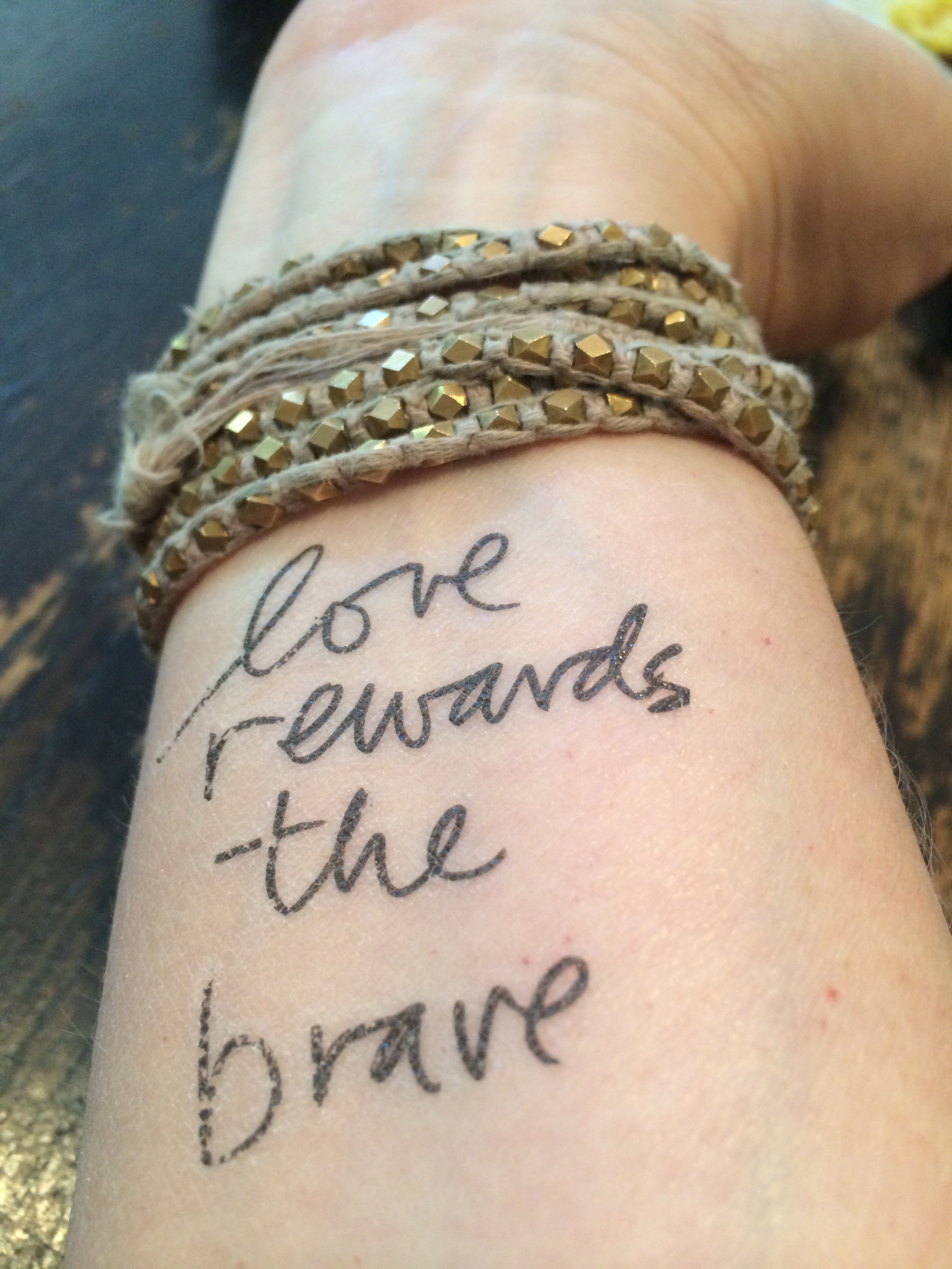 Photo Credit: Elana Kilkenny (Temporary Tattoo by Danielle LaPorte)