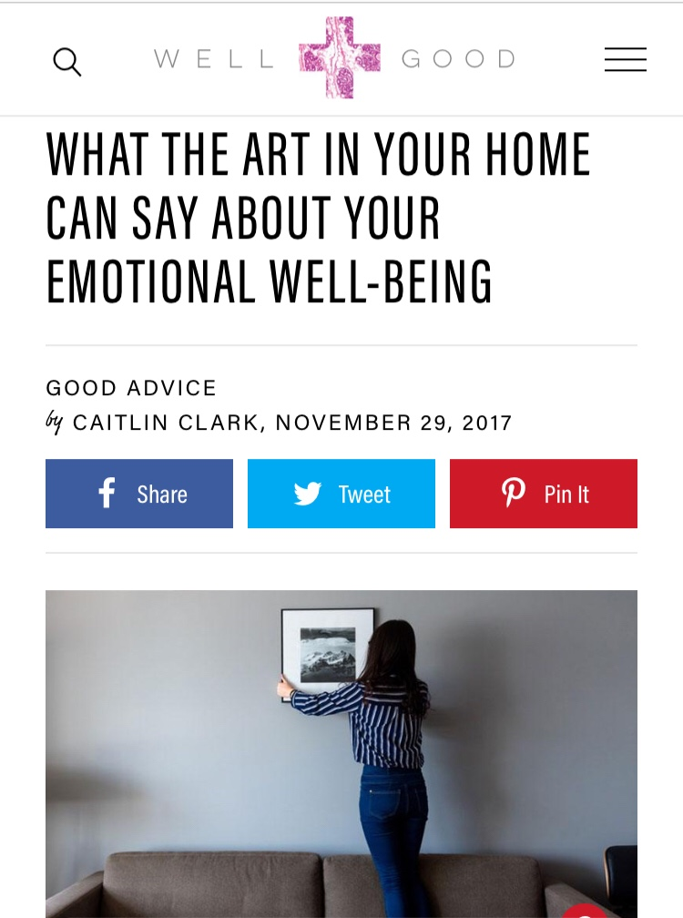Well + Good: What Your Art Says