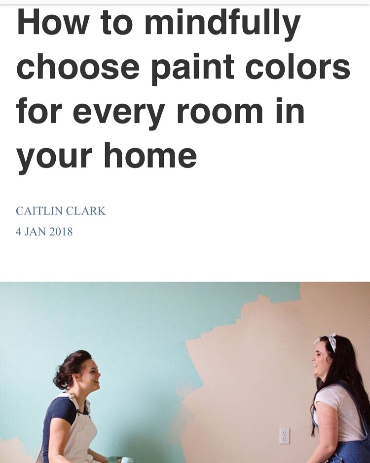 Well + Good: How To Mindfully Pick Paint Colors