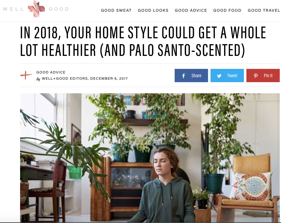 Well + Good: Holistic Home Trend