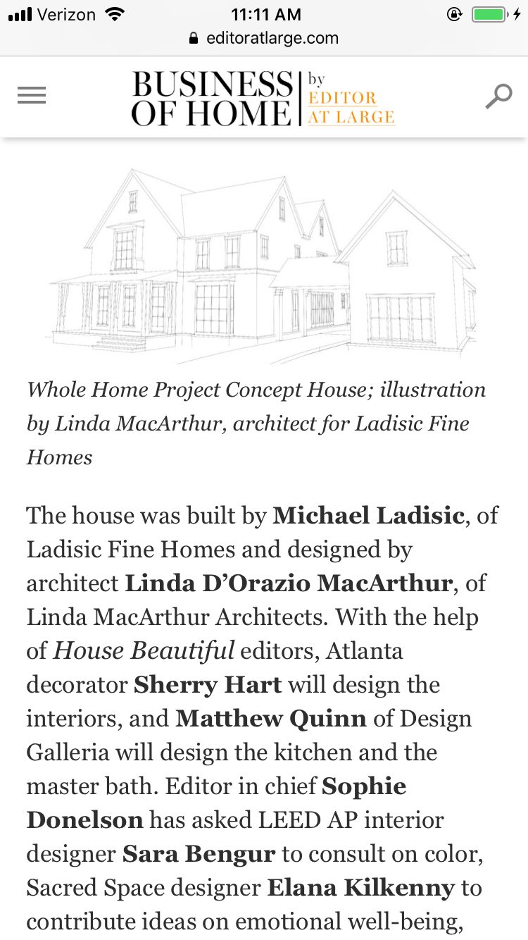 Business of Home: Whole Home Designer Announcement
