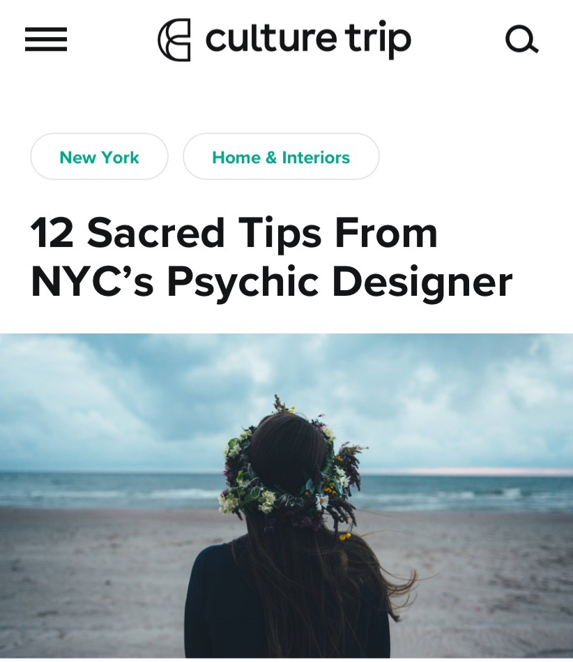 Culture Trip: Tips From a Psychic Designer