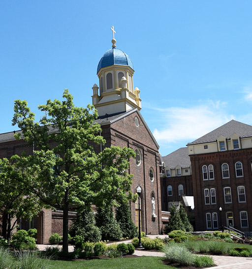 Catherine received a bachelor's degree from ohio state before earning her masters from the university of dayton (above)