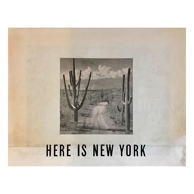 """""""Here is New York"""" 4/18  I normally don't like text in my collages but this seemed to fit. #collageart #collagecollectiveco #vintagepaper"""