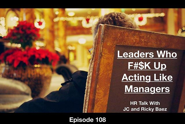 Leaders vs. Managers! Are they one on the same? Says who? JC and Ricky Baez discuss the difference in the latest episode of HR Talk! Episode 108 is live and ready for download! Go to http://www.baezco.com/baezco-hrtalk/ to find the latest episode! #hr #leadership