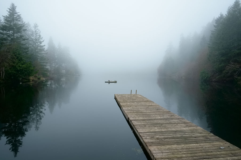Fog over Magic Lake