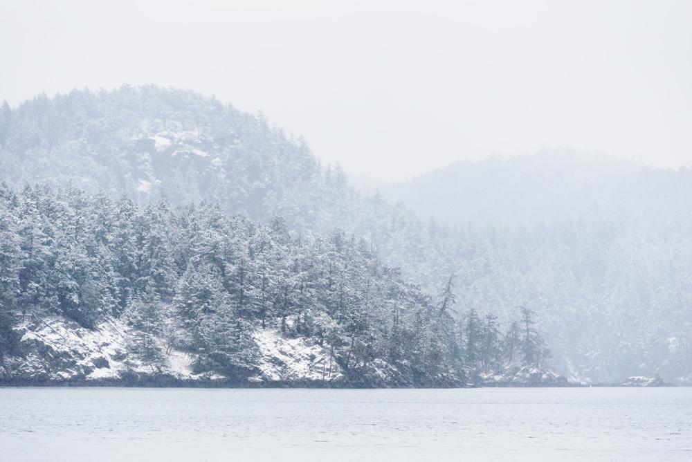 Snow storm, Medicine Beach