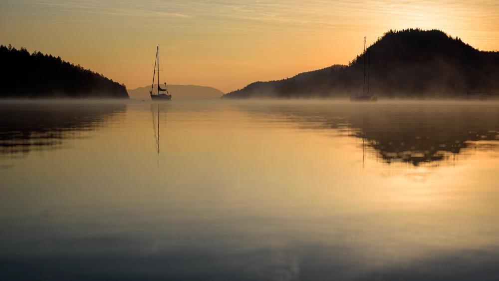 Port Browning dawn