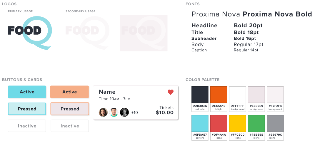 FoodQ Style Guide